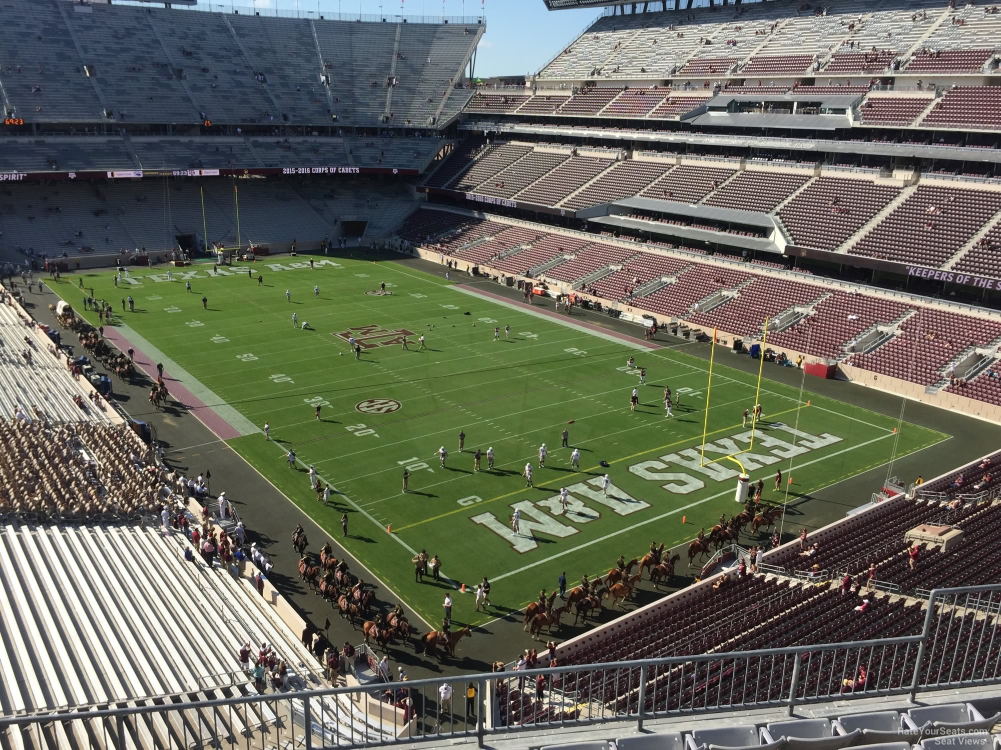Seat View for Kyle Field Section 326, Row 6