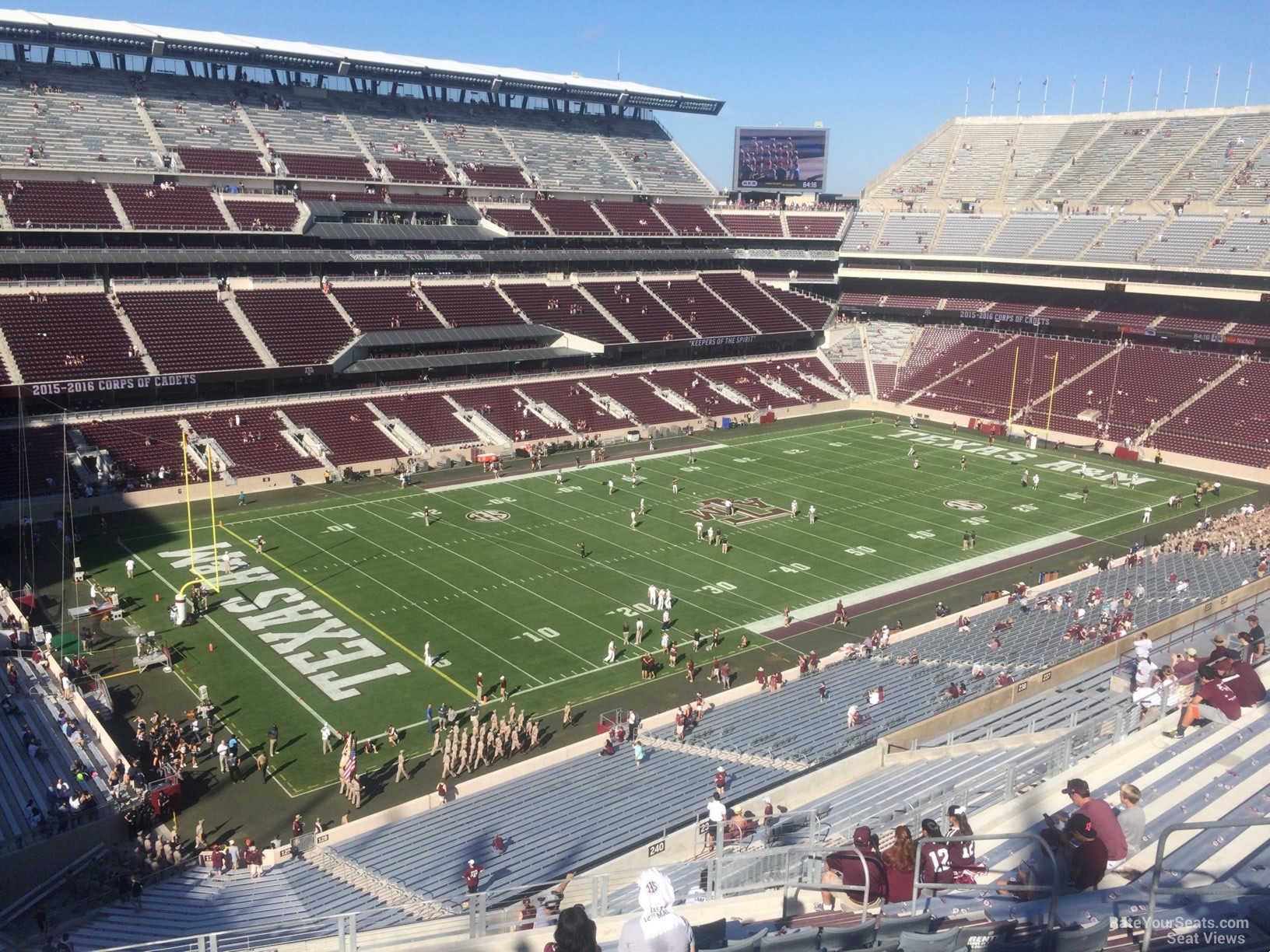 Seat View for Kyle Field Section 340, Row 14
