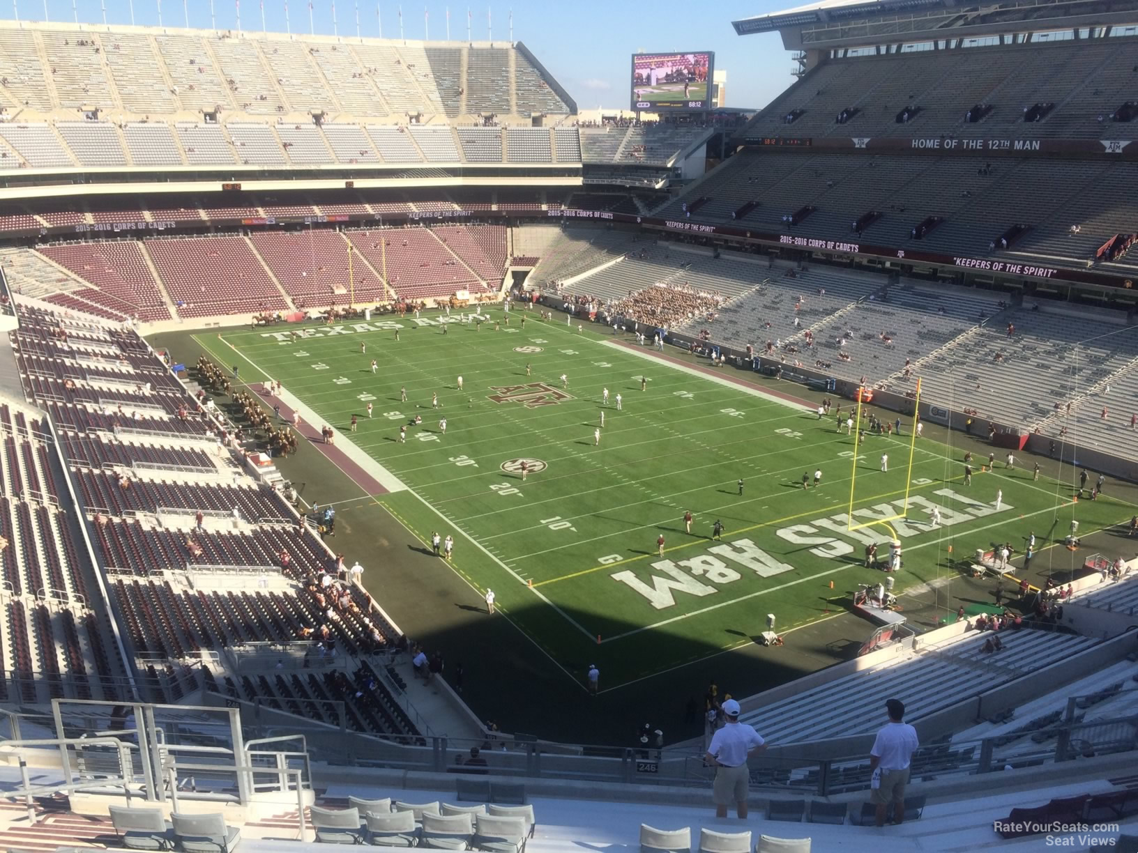 Seat View for Kyle Field Section 350, Row 14