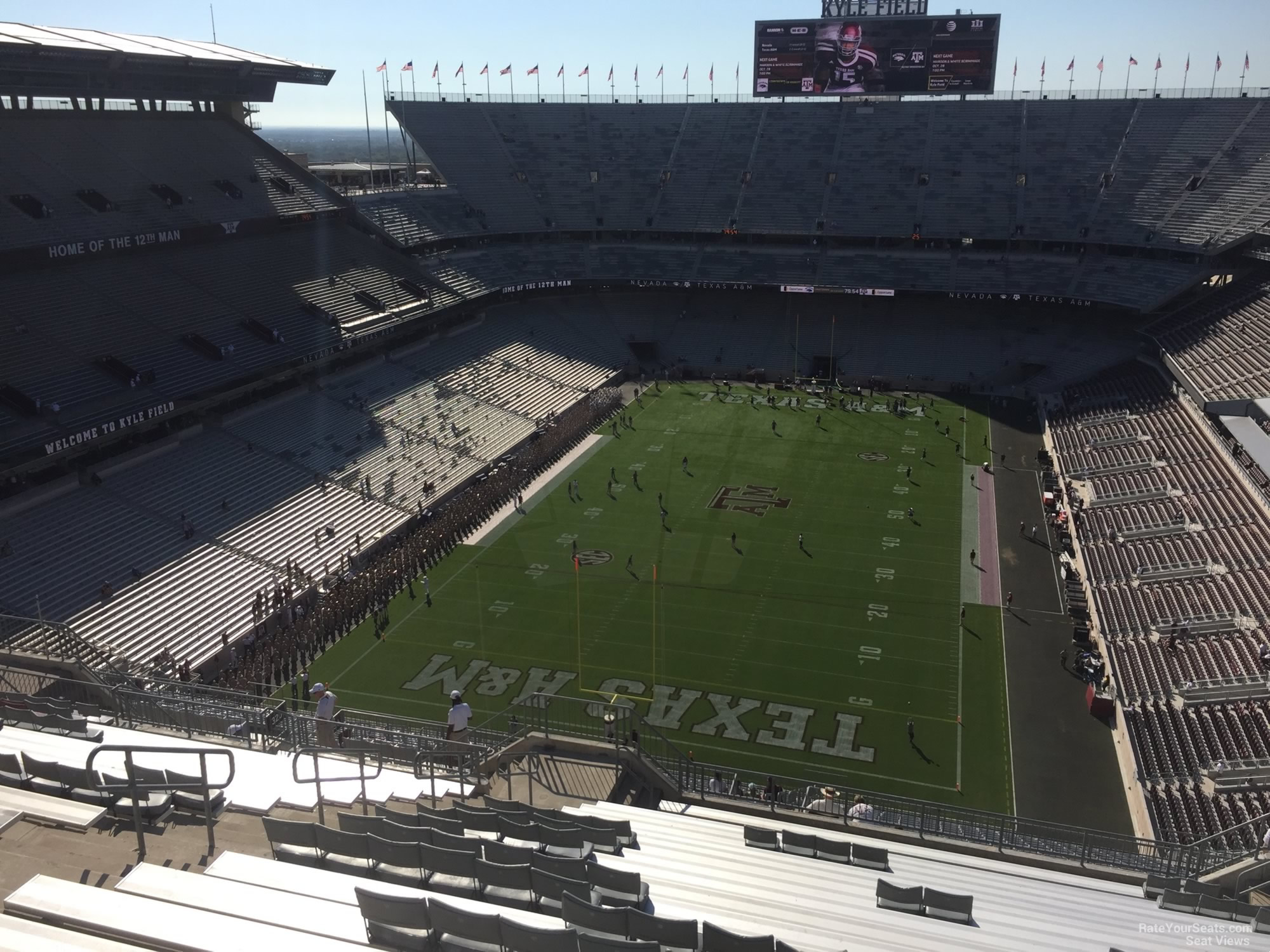 Seat View for Kyle Field Section 413, Row 20