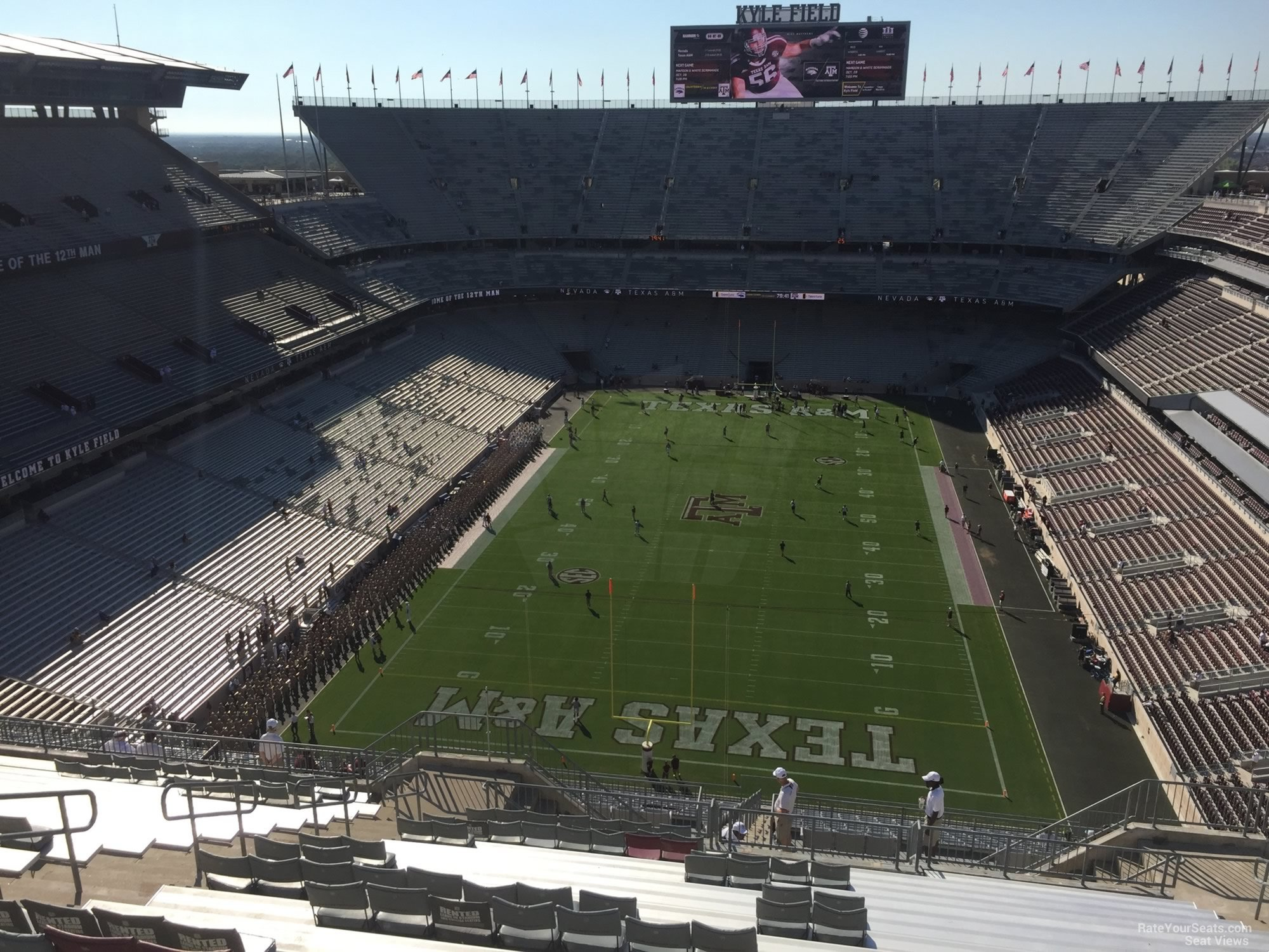 Seat View for Kyle Field Section 414, Row 20