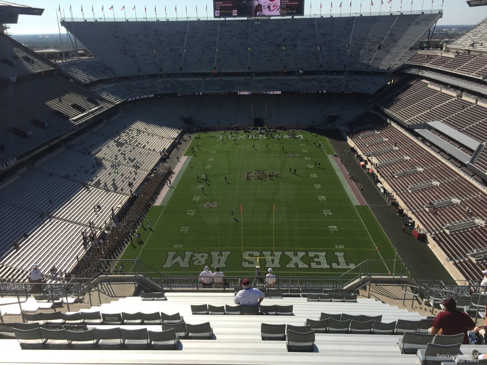 Seat View for Kyle Field Section 415, Row 20