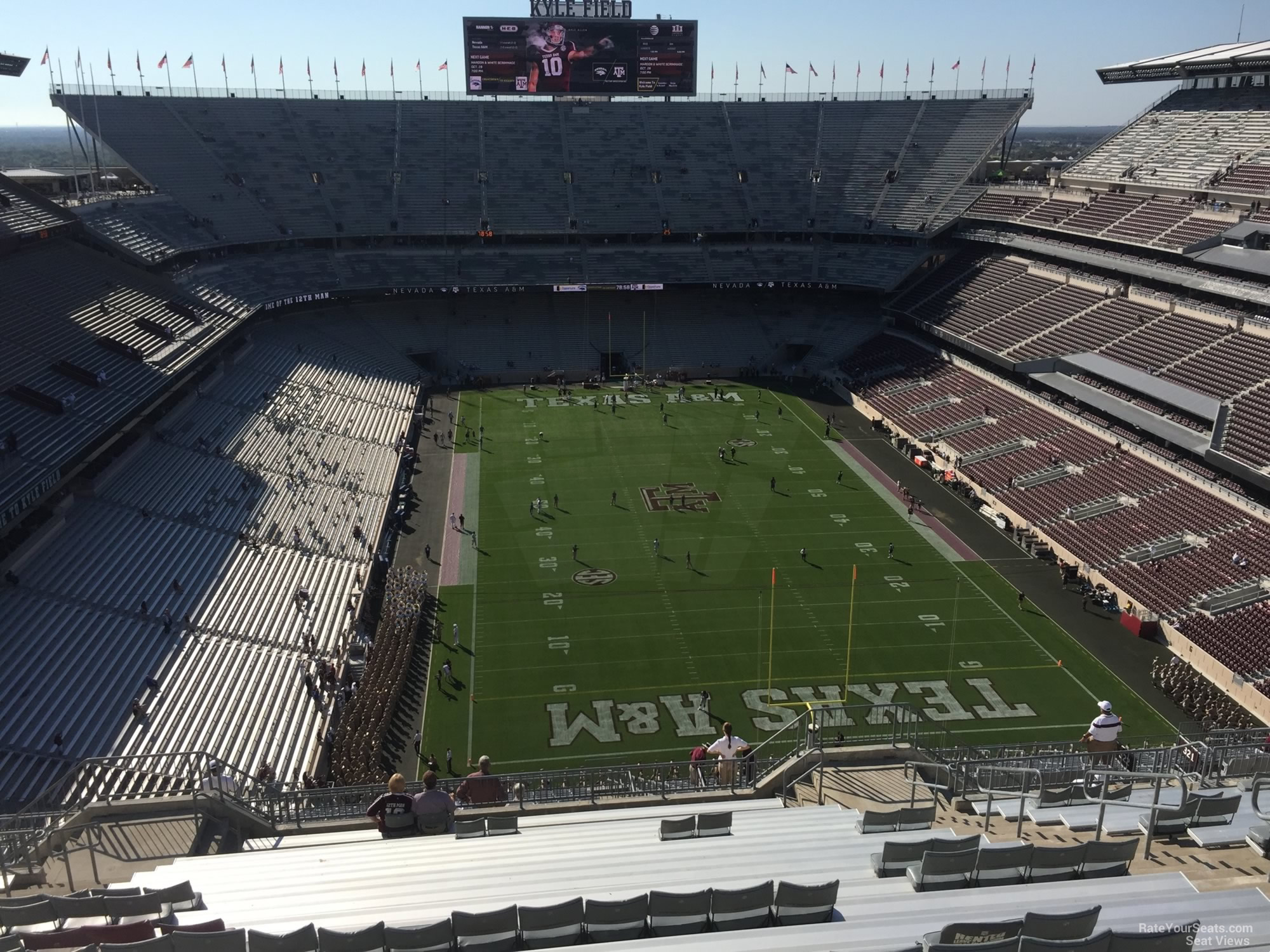 Seat View for Kyle Field Section 417, Row 20