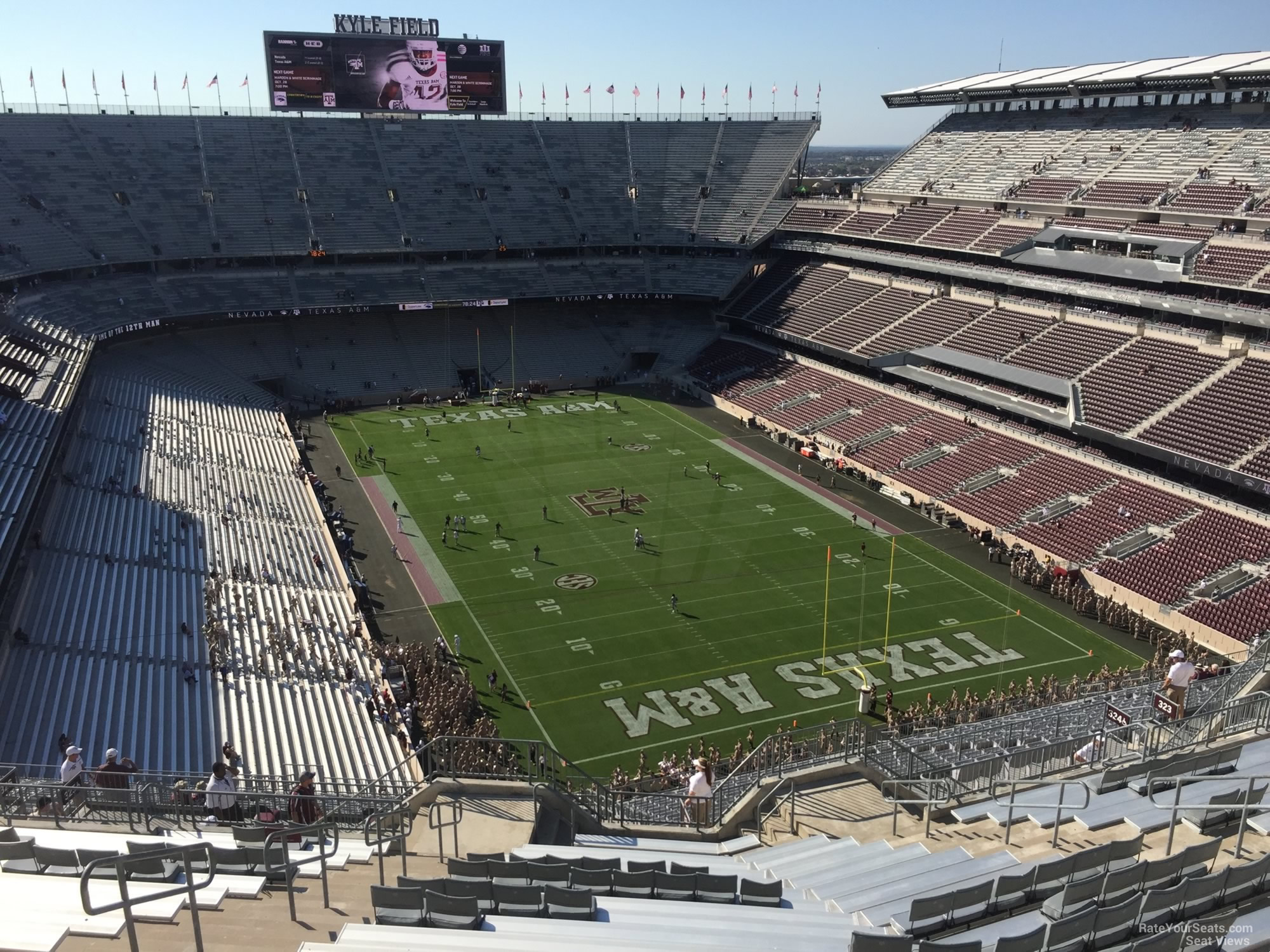 Seat View for Kyle Field Section 419, Row 20