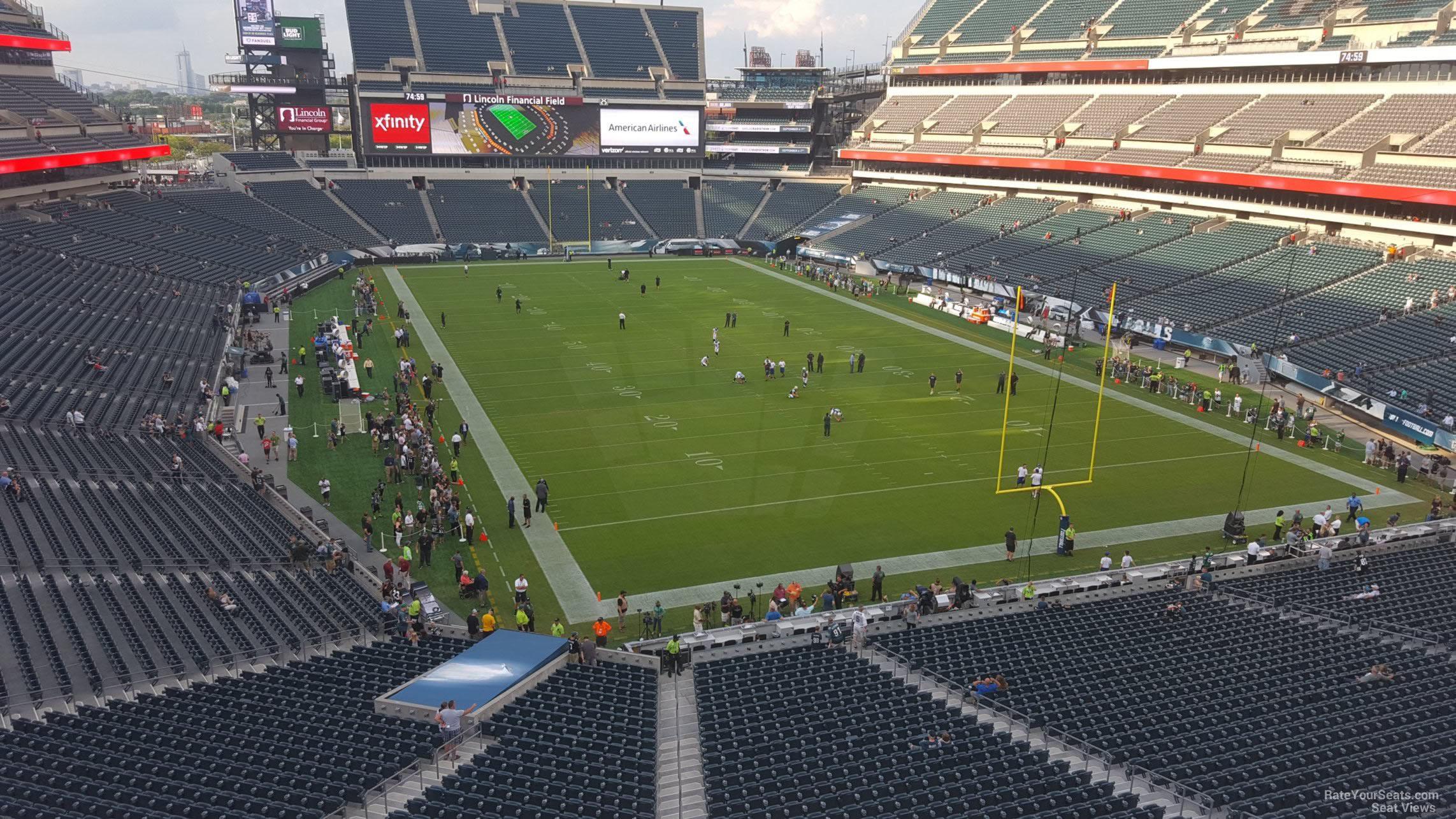 Lincoln Financial Field Section M9 Philadelphia Eagles