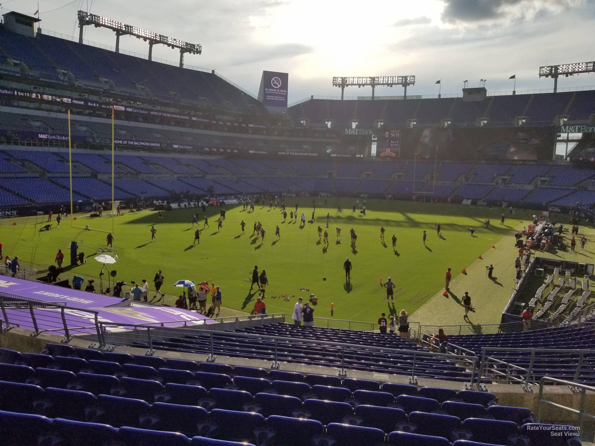 M Amp T Bank Stadium Section 109 Baltimore Ravens Rateyourseats Com