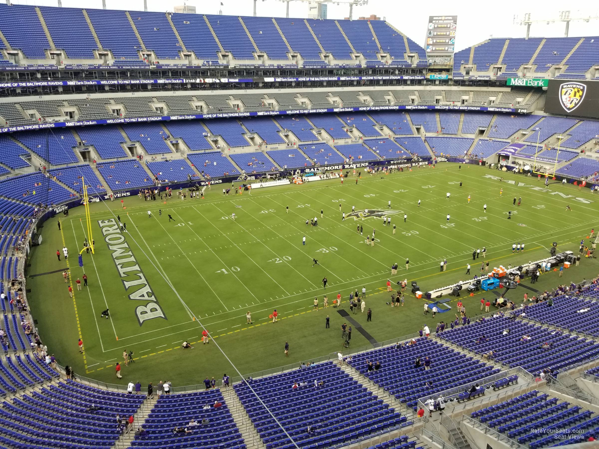 M Amp T Bank Stadium Section 531 Baltimore Ravens Rateyourseats Com