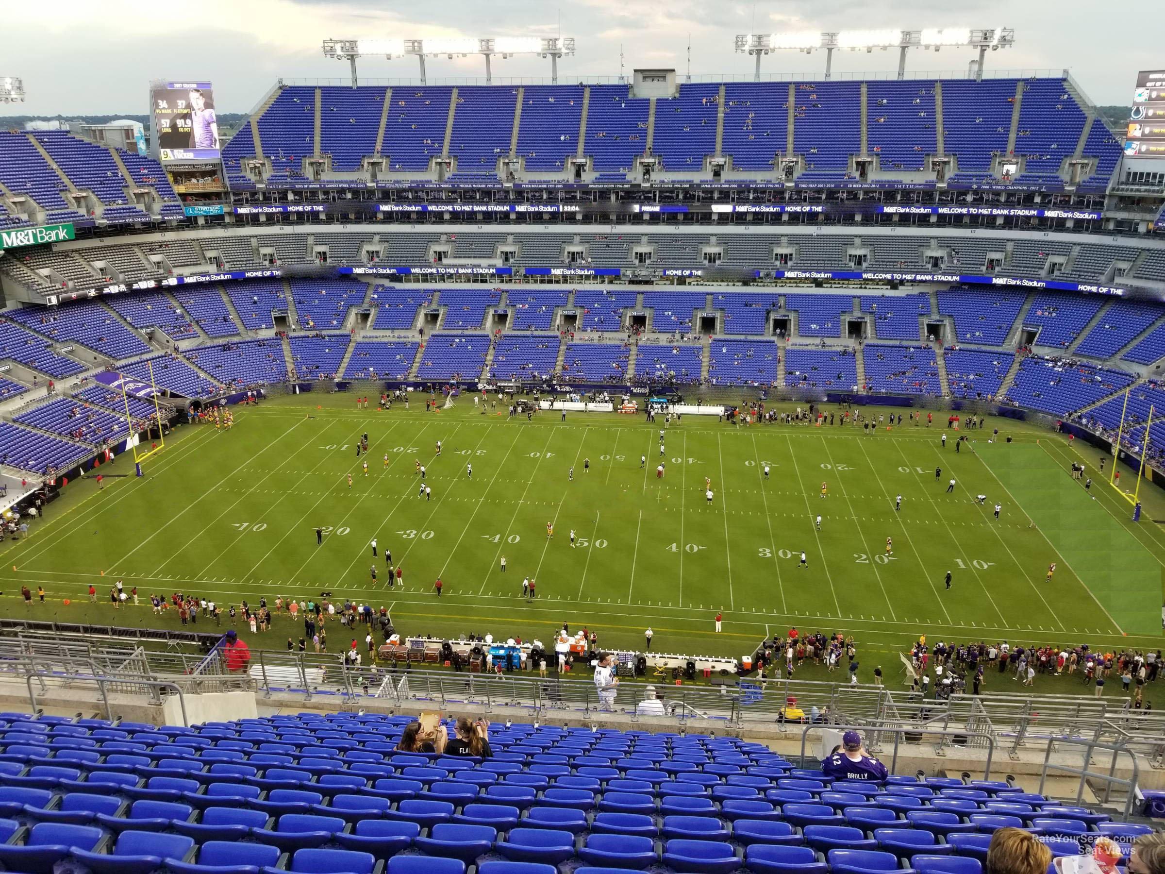 Mt Bank Stadium Section 553 Baltimore Ravens