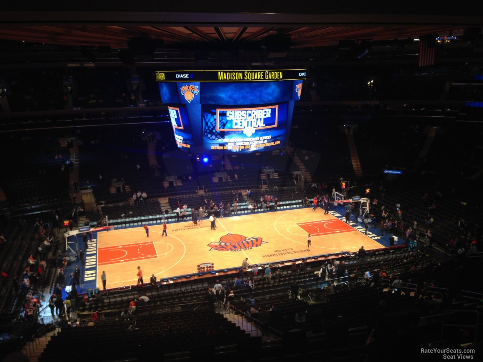 New York Knicks Seat View for Madison Square Garden Section 210, Row 12