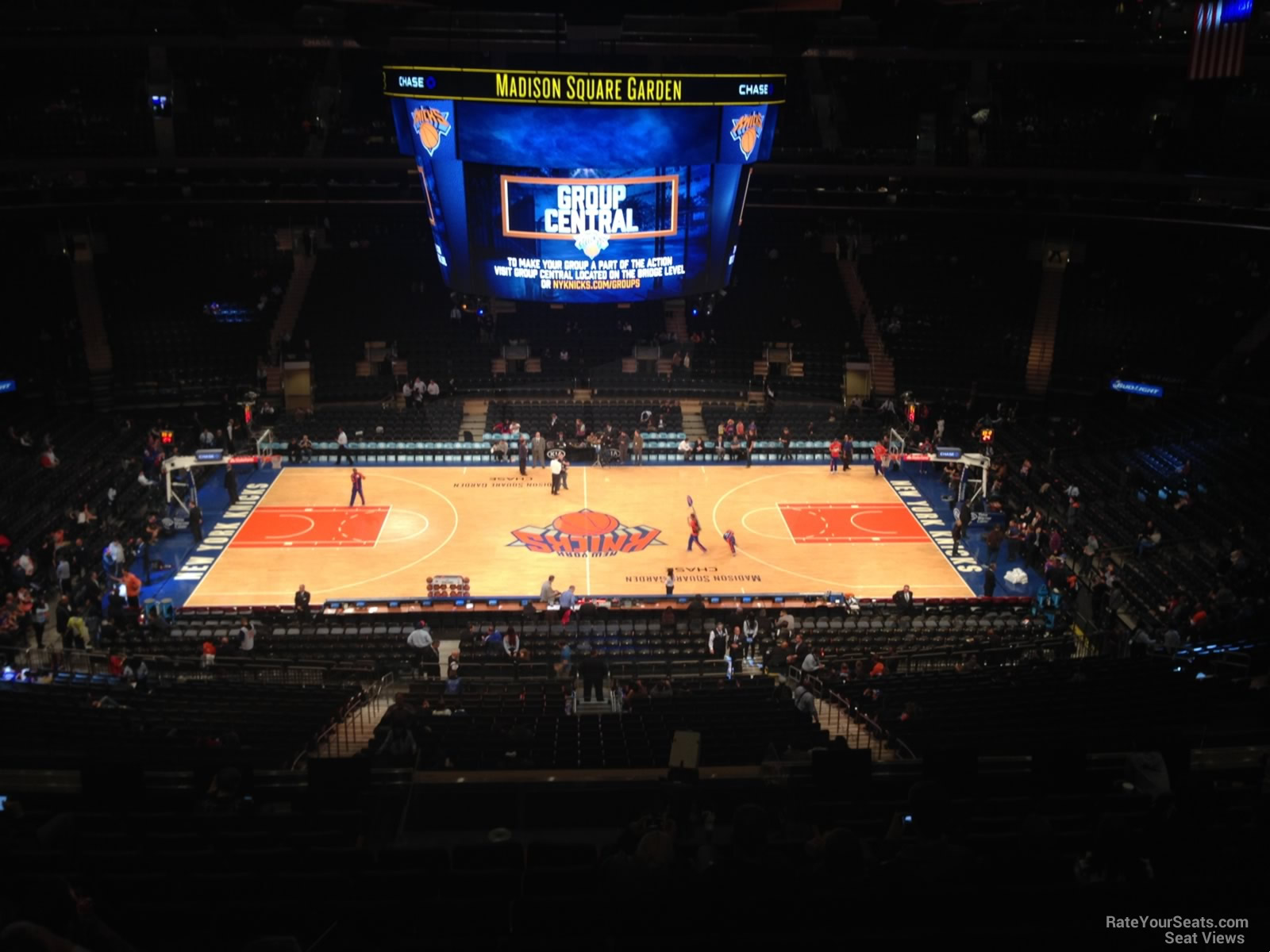 New York Knicks Seat View for Madison Square Garden Section 211, Row 12
