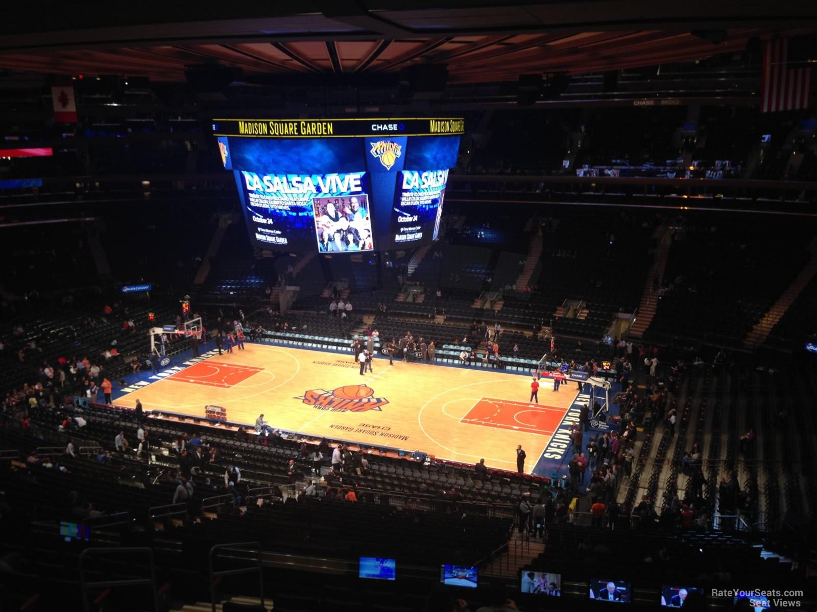 Madison Square Garden Section 213 New York Knicks