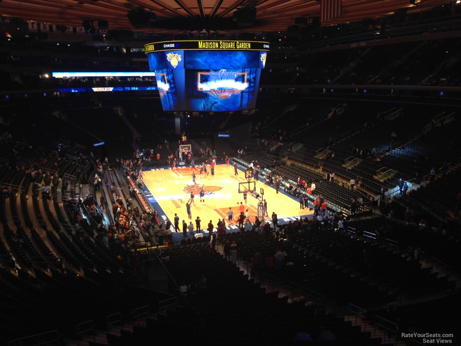 New York Knicks Seat View for Madison Square Garden Section 216, Row 3