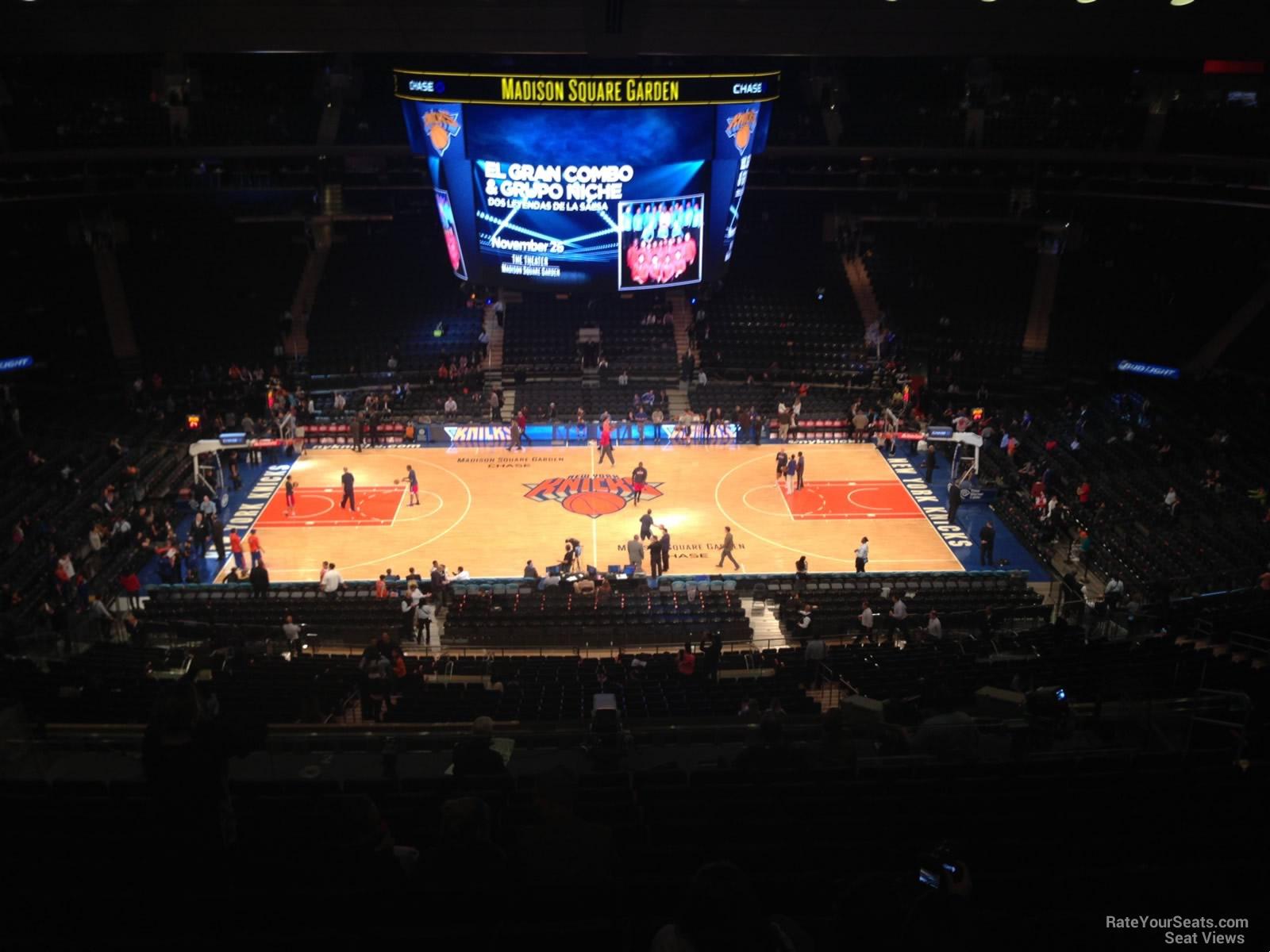 Madison Square Garden Section 224 - New York Knicks ...