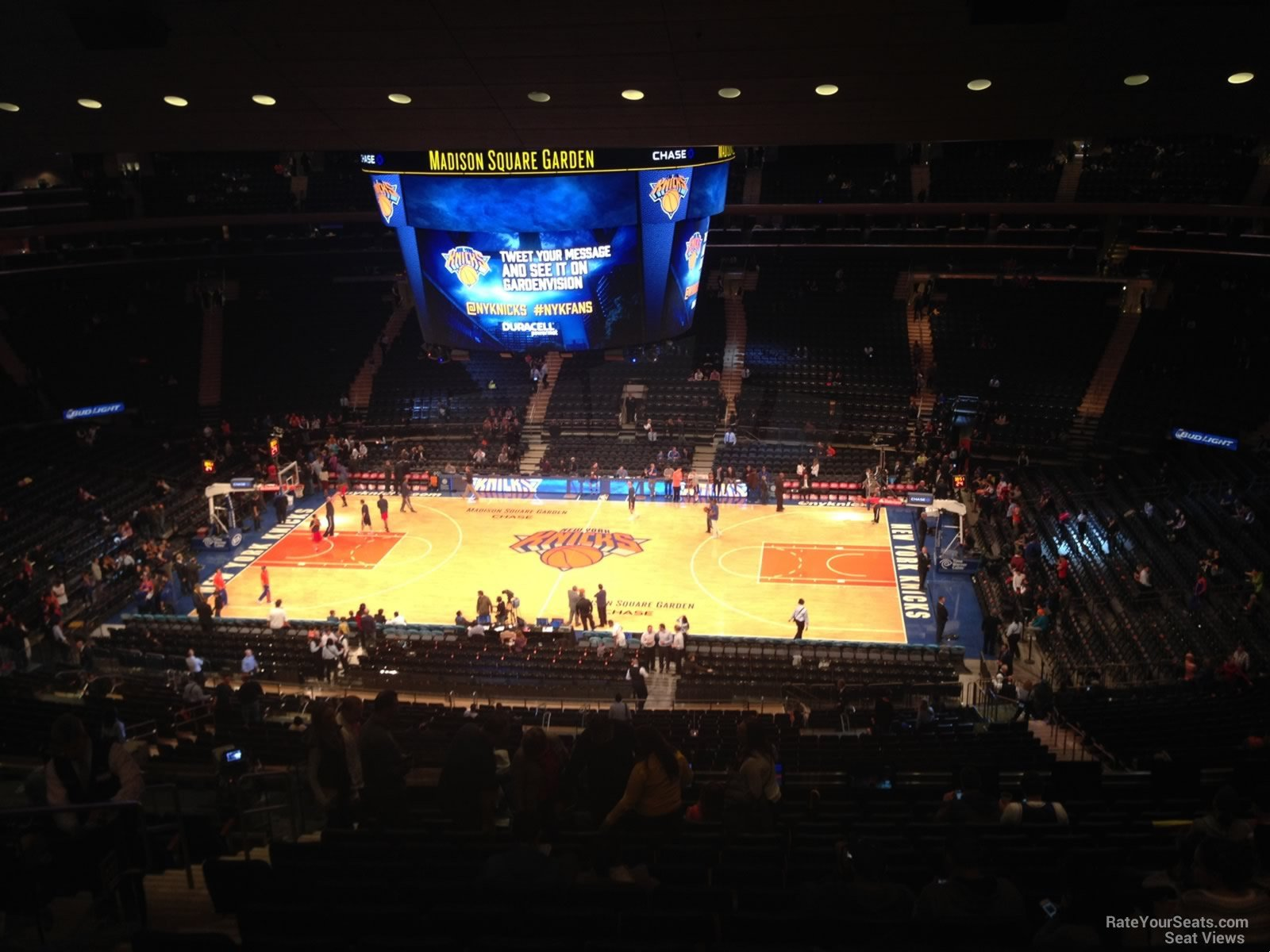 New York Knicks Seat View for Madison Square Garden Section 225, Row 12