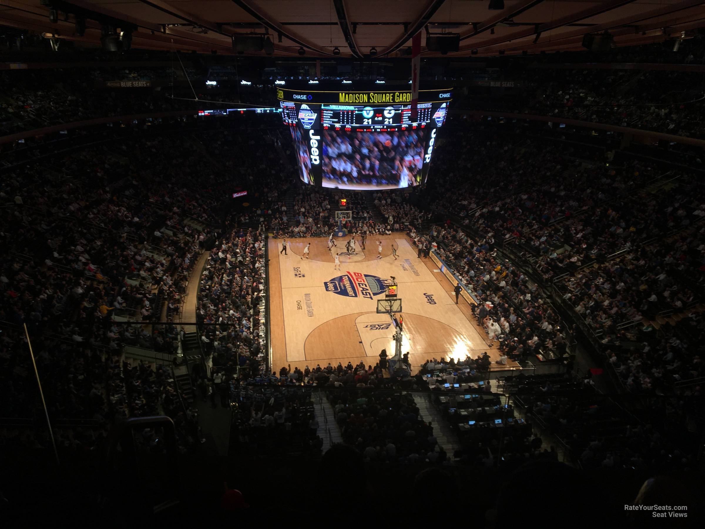 New York Knicks Seat View for Madison Square Garden Section 304, Row 2