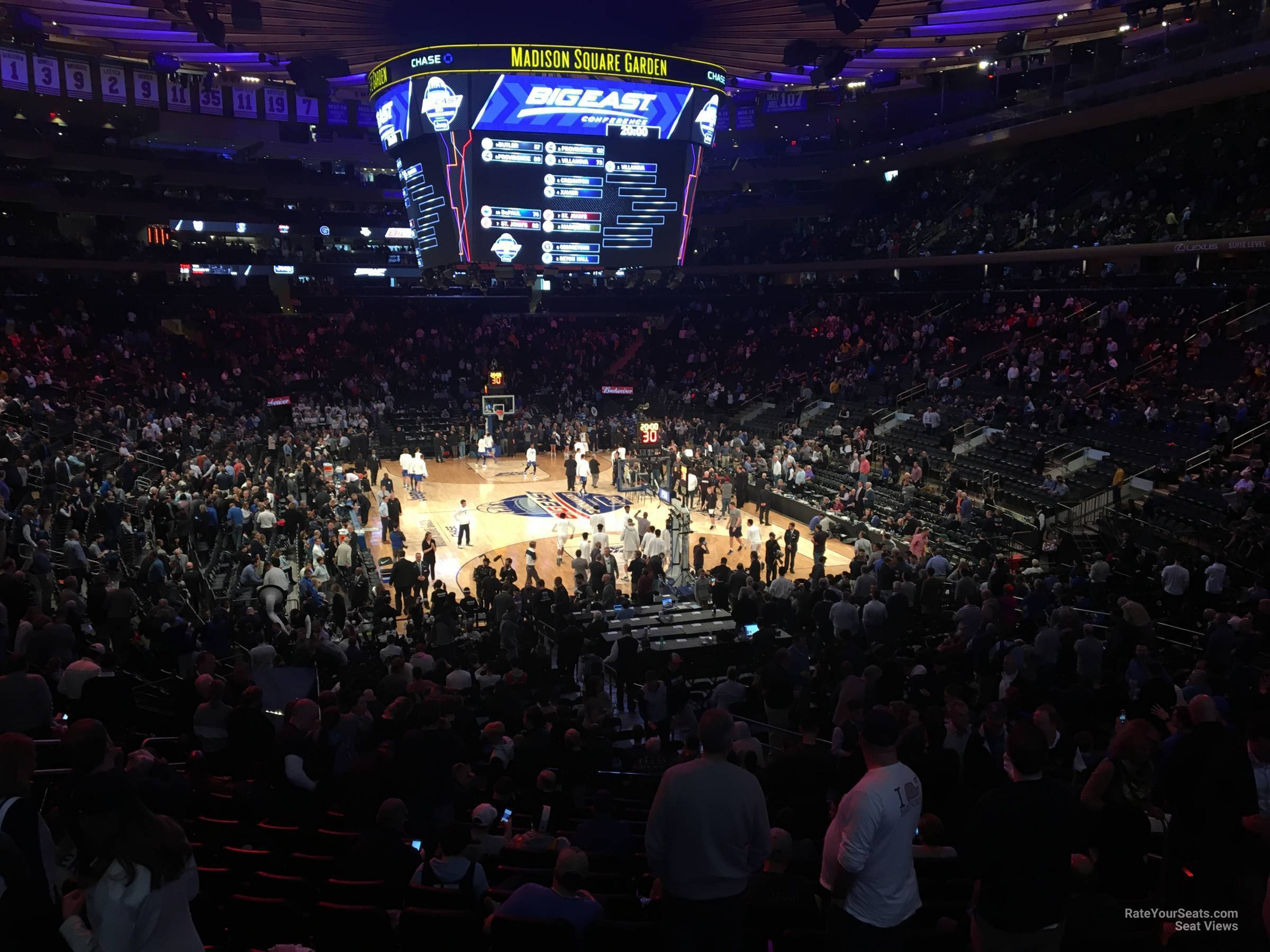 New York Knicks Seat View for Madison Square Garden Madison Club 60, Row 1