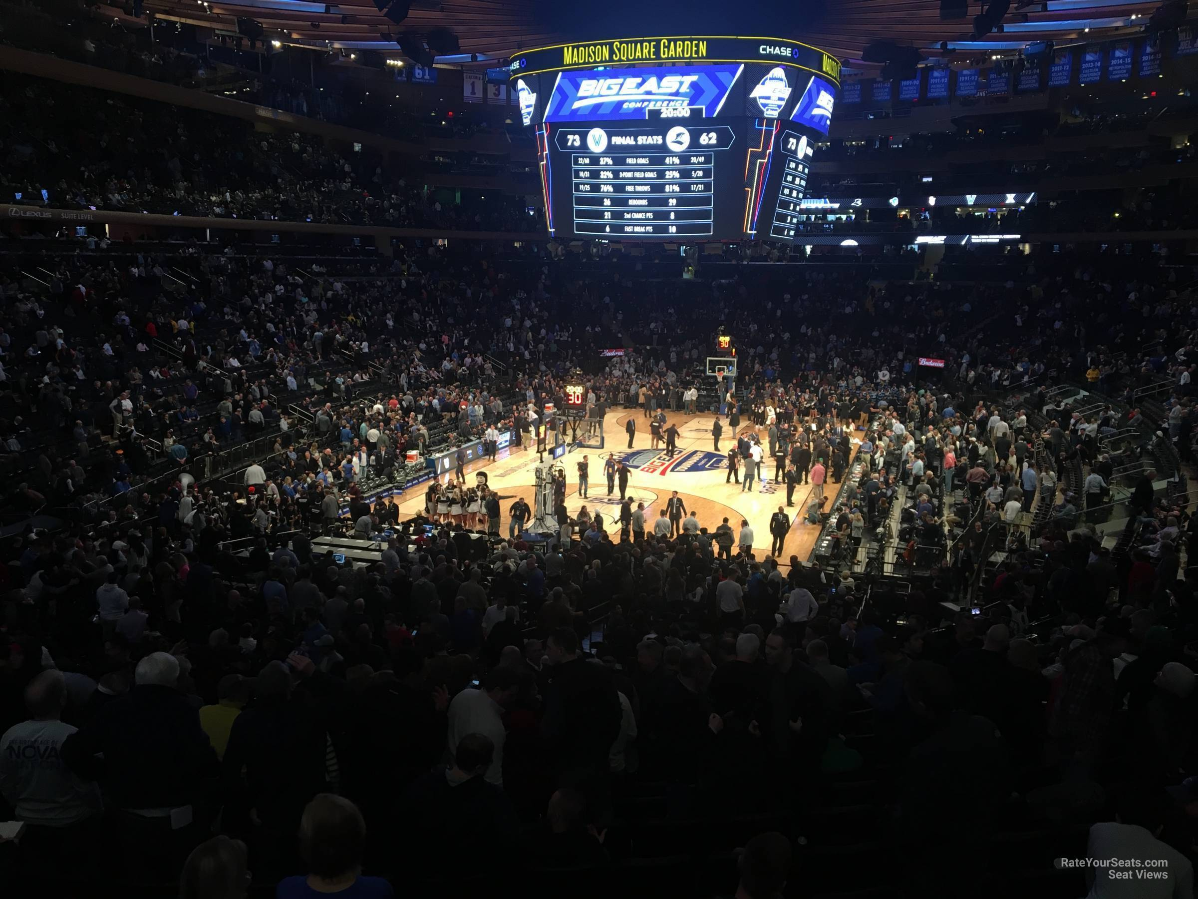 New York Knicks Seat View for Madison Square Garden Madison Club 65, Row 1