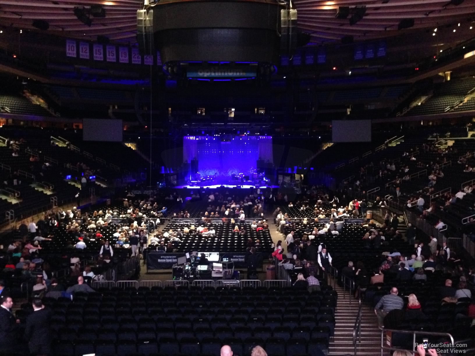 Madison Square Garden Section 102 Concert Seating ...