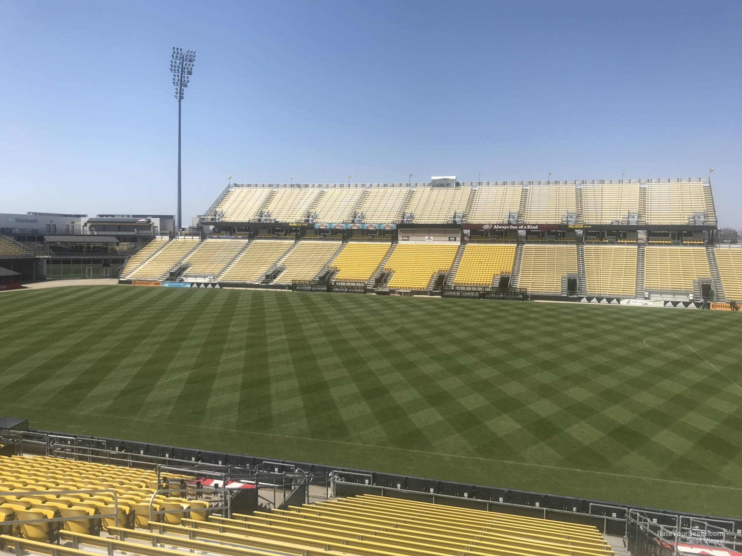 Seat View for MAPFRE Stadium Section 104, Row 24