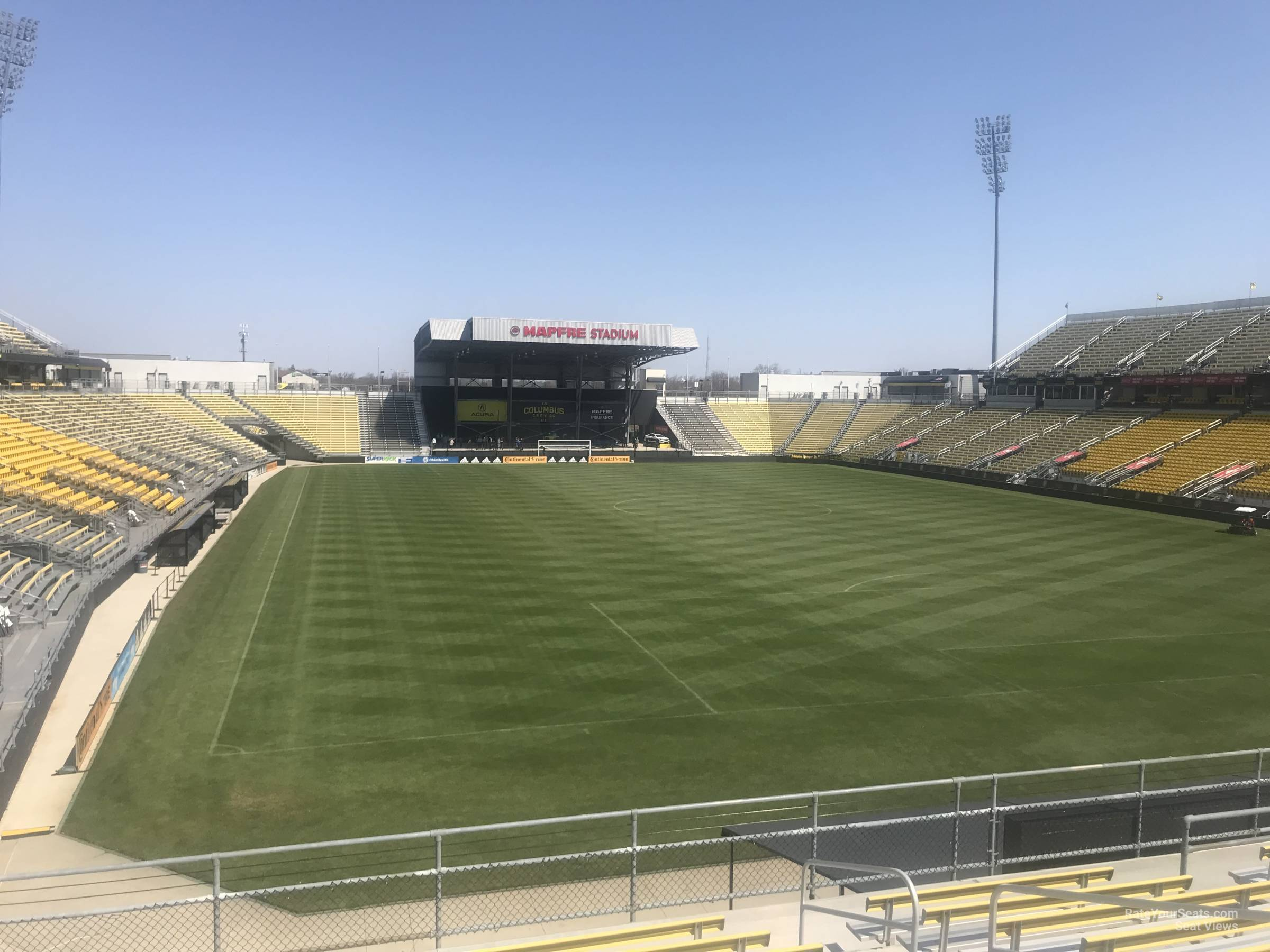Seat View for Mapfre Stadium Section 119, Row 24