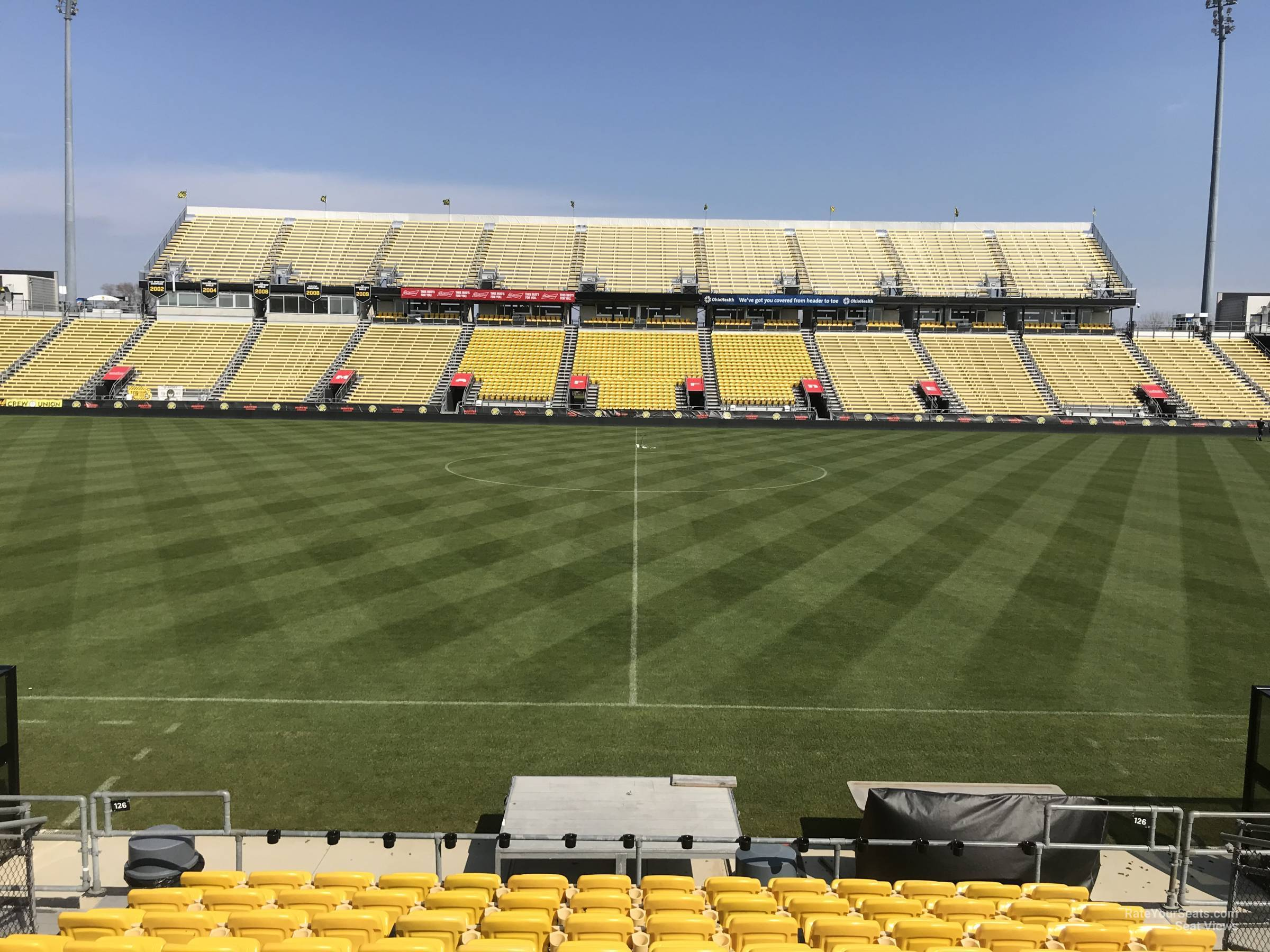 Seat View for MAPFRE Stadium Section 126, Row 11