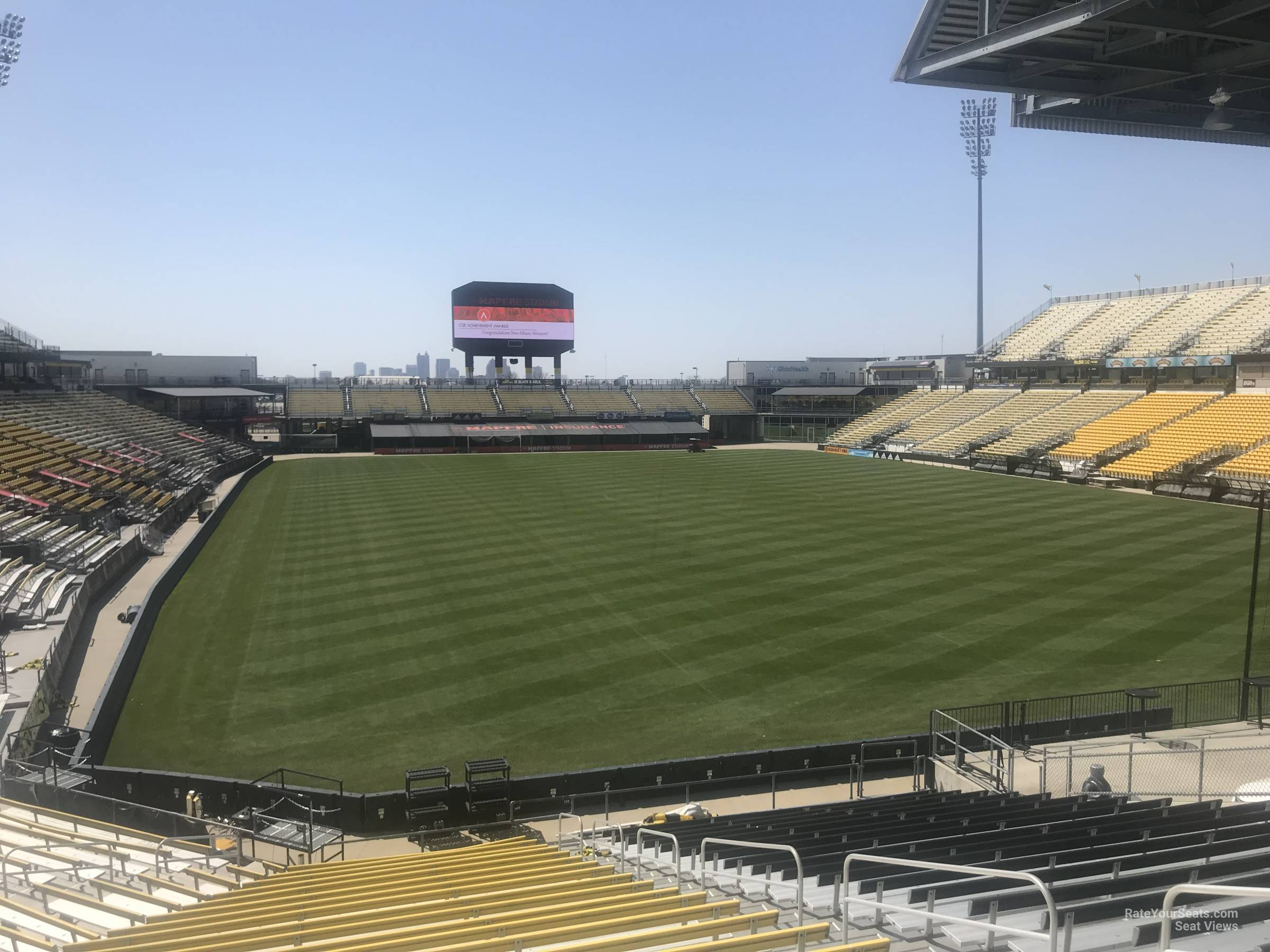 Seat View for MAPFRE Stadium Section 140, Row 24