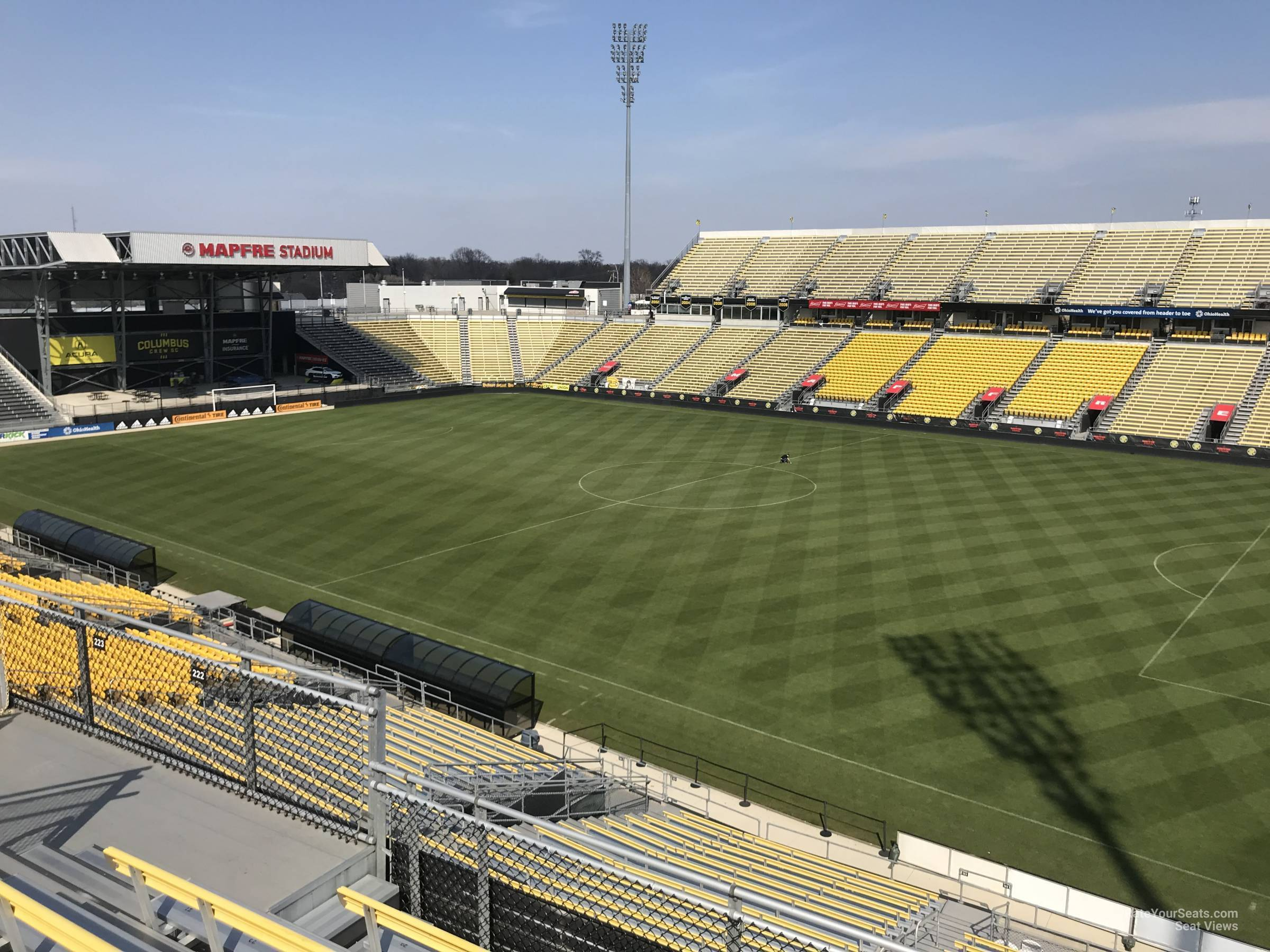 Seat View for Mapfre Stadium Section 222, Row 11