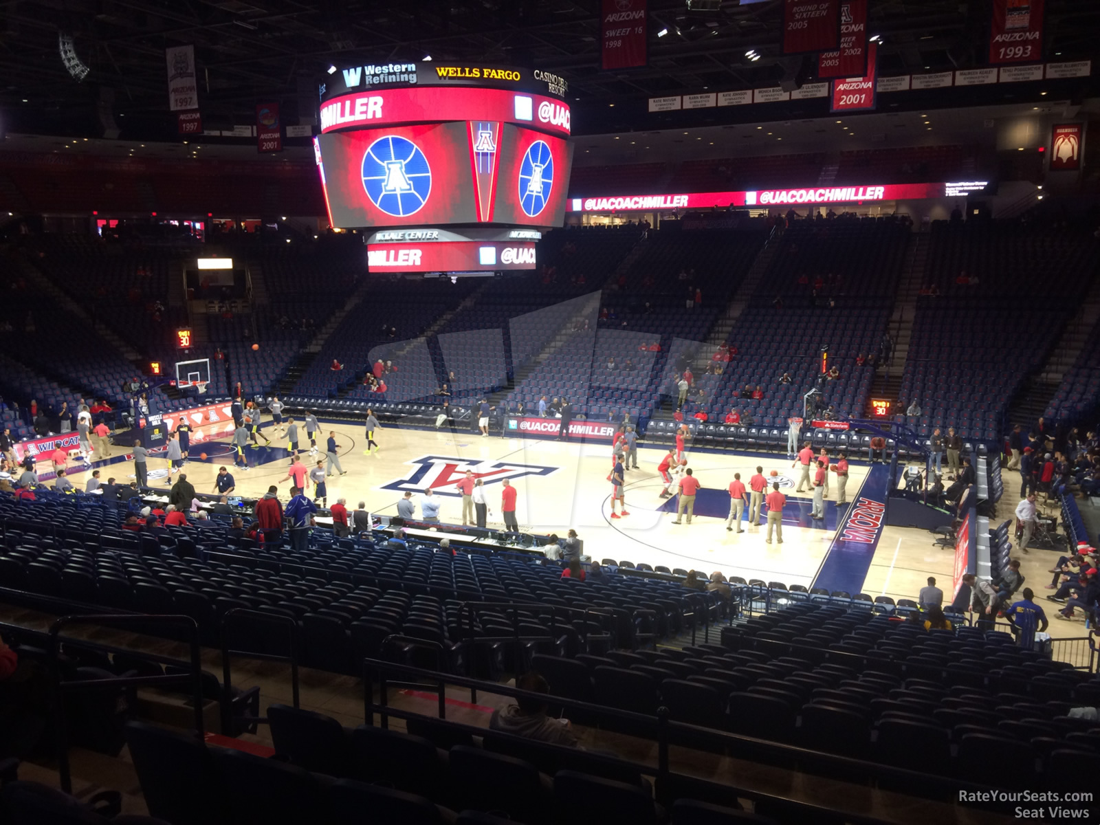 Seat View for McKale Center Section 1, Row 23