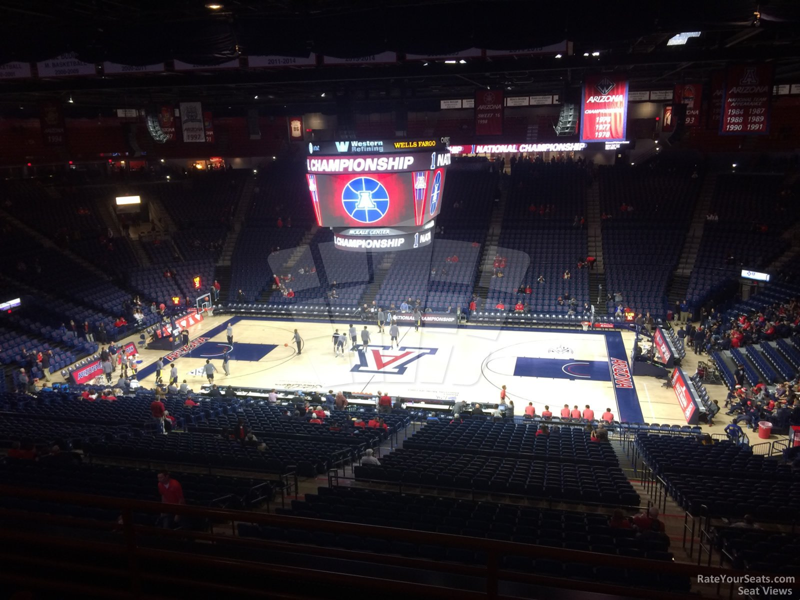 Seat View for McKale Center Section 101A, Row 35