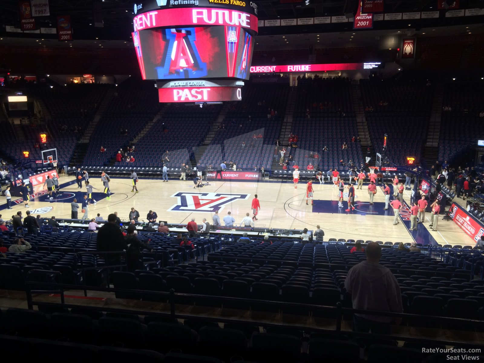 Seat View for McKale Center Section 2, Row 23