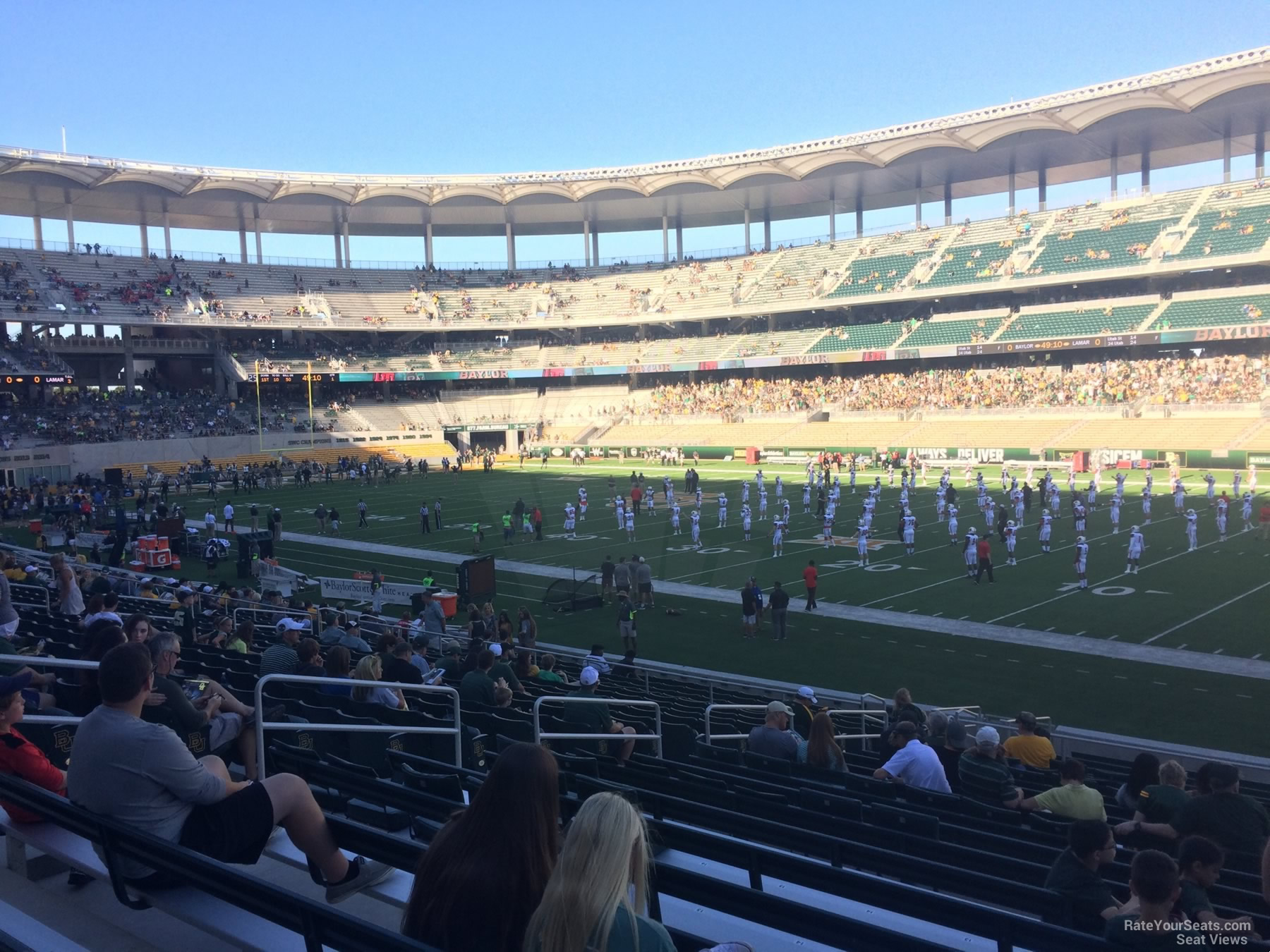 Seat View for McLane Stadium Section 102, Row 20