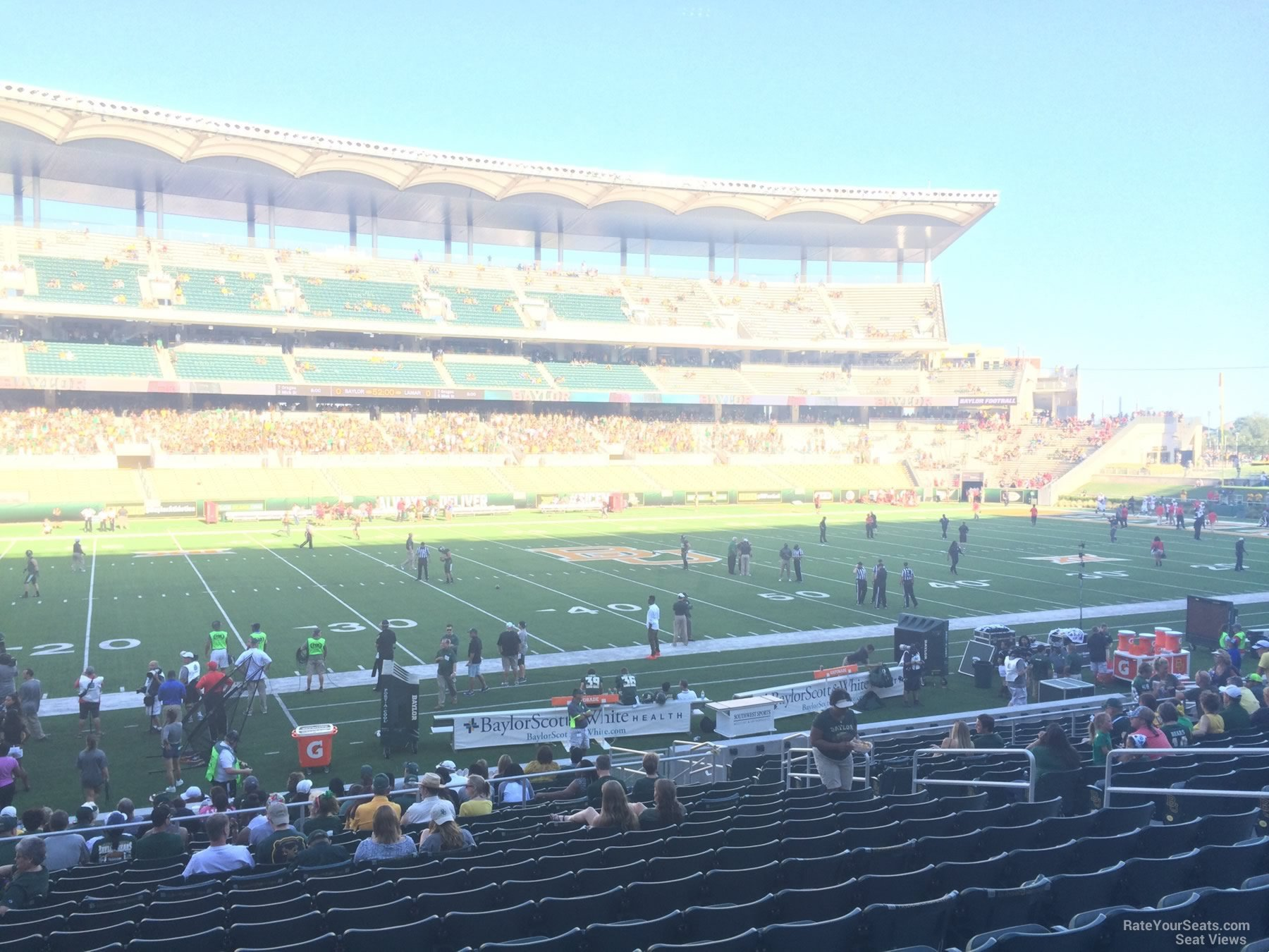 Seat View for McLane Stadium Section 108, Row 20