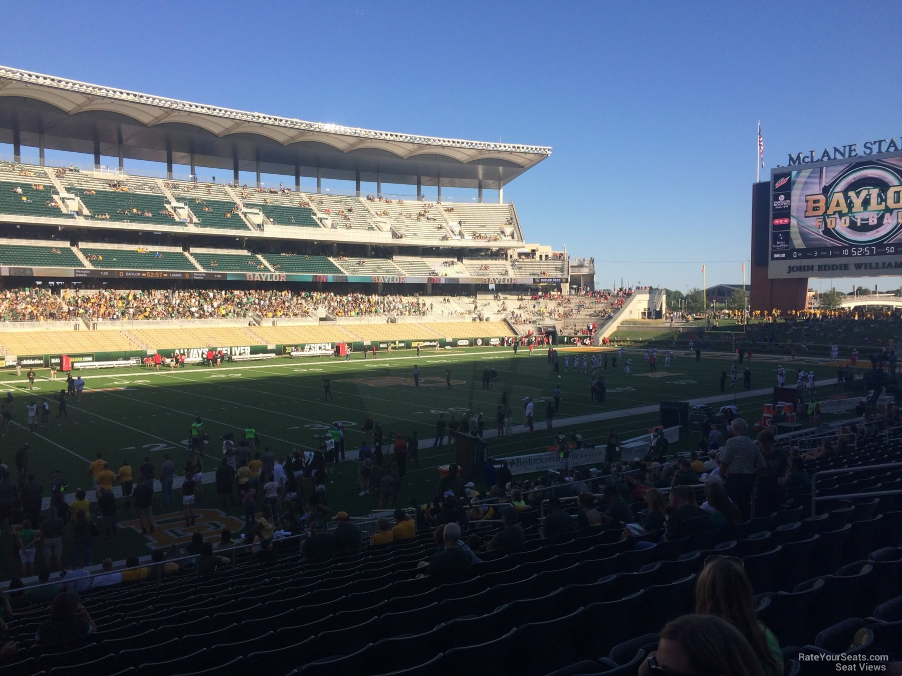 Seat View for McLane Stadium Section 109, Row 20