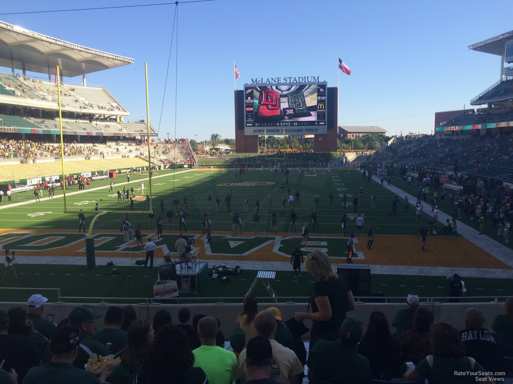 Seat View for McLane Stadium Section 114, Row 20