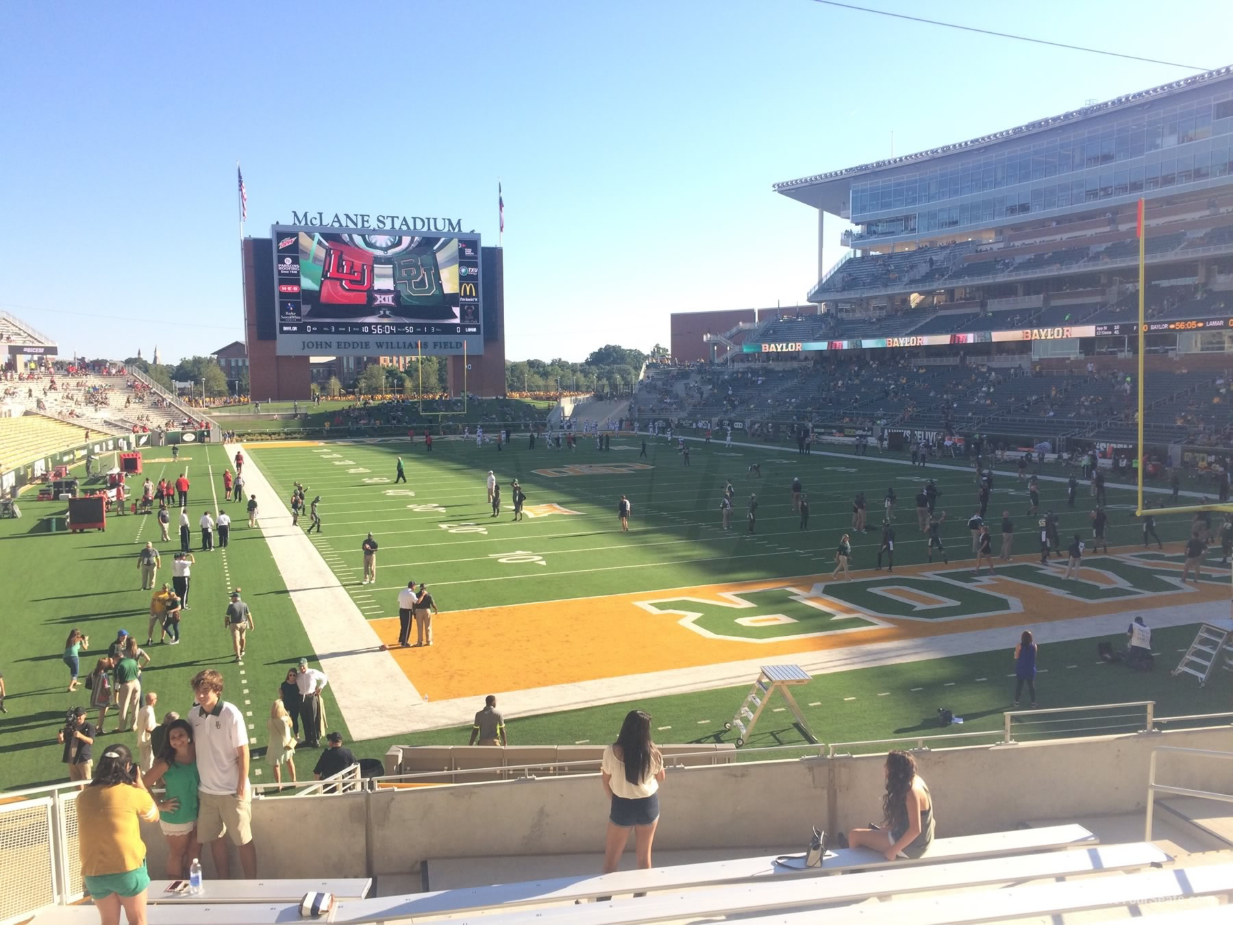 Seat View for McLane Stadium Section 117, Row 20