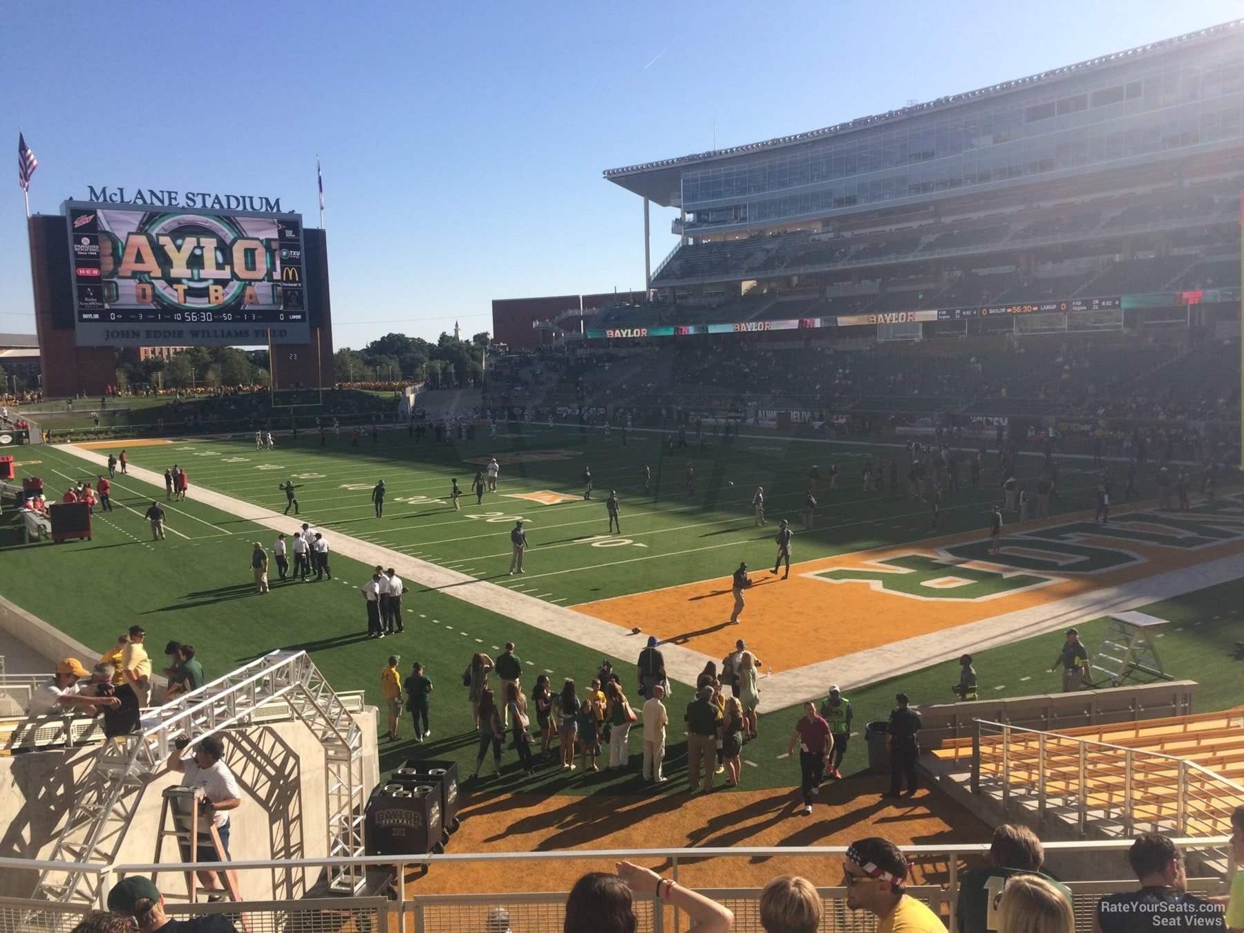 Seat View for McLane Stadium Section 118, Row 20