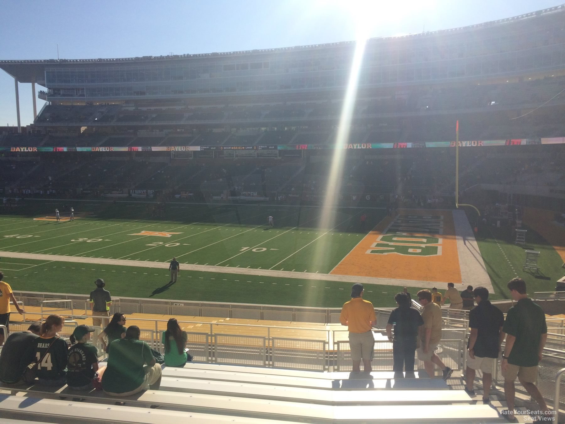 Seat View for McLane Stadium Section 120, Row 25