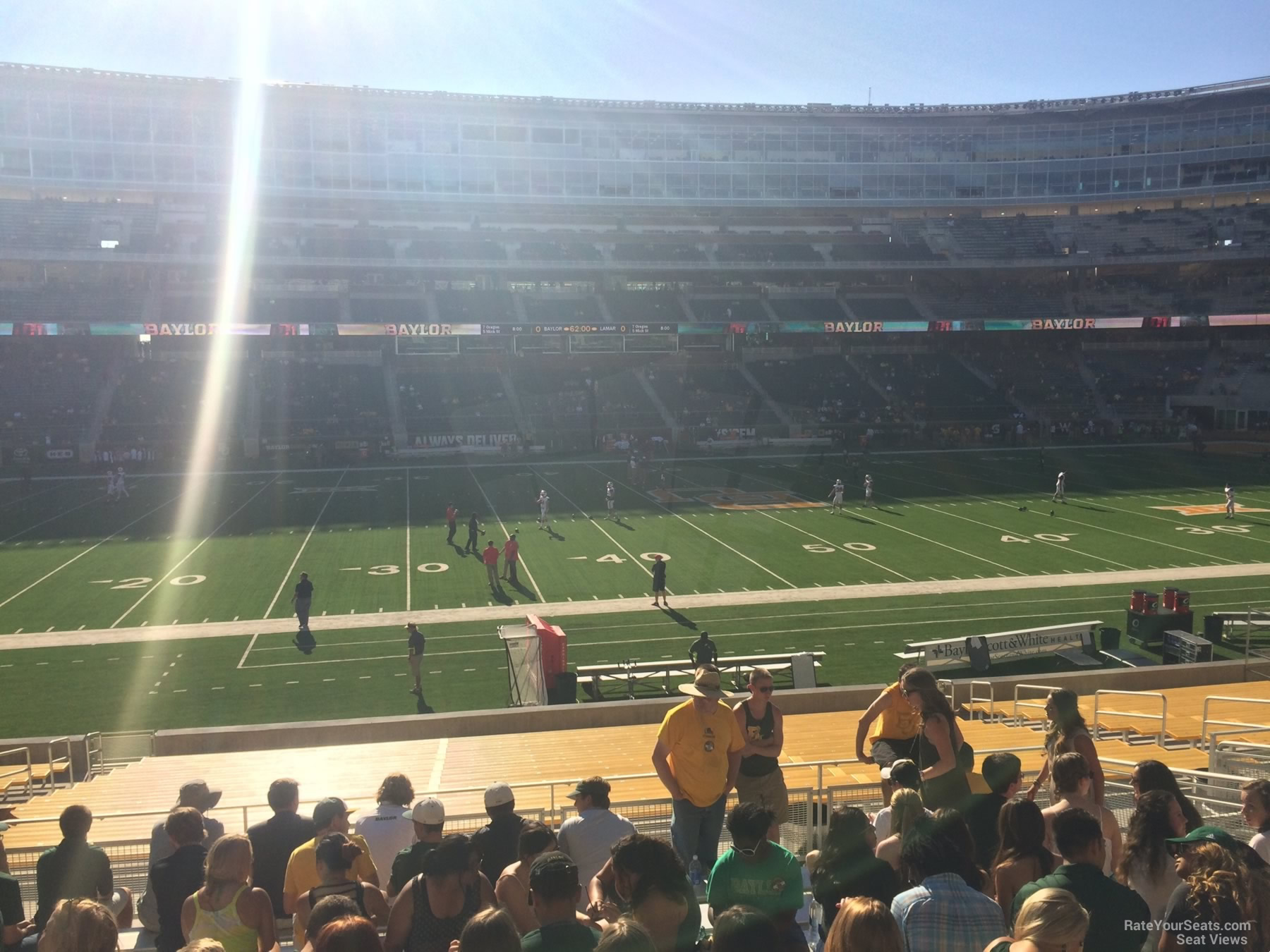 Seat View for McLane Stadium Section 126, Row 25