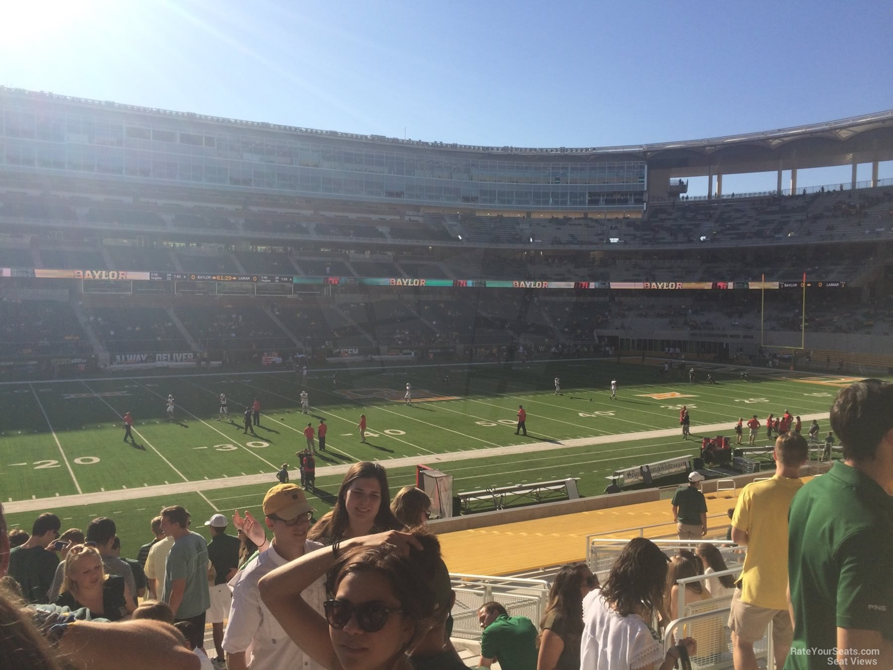 Seat View for McLane Stadium Section 127, Row 25