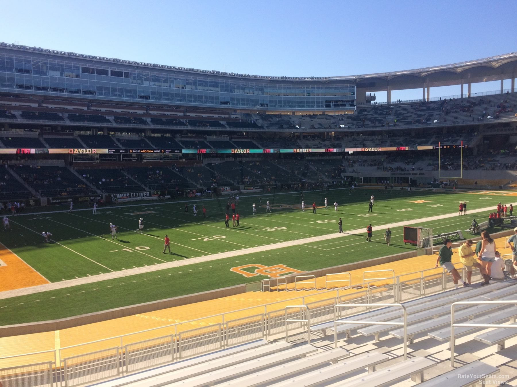 Seat View for McLane Stadium Section 129, Row 25