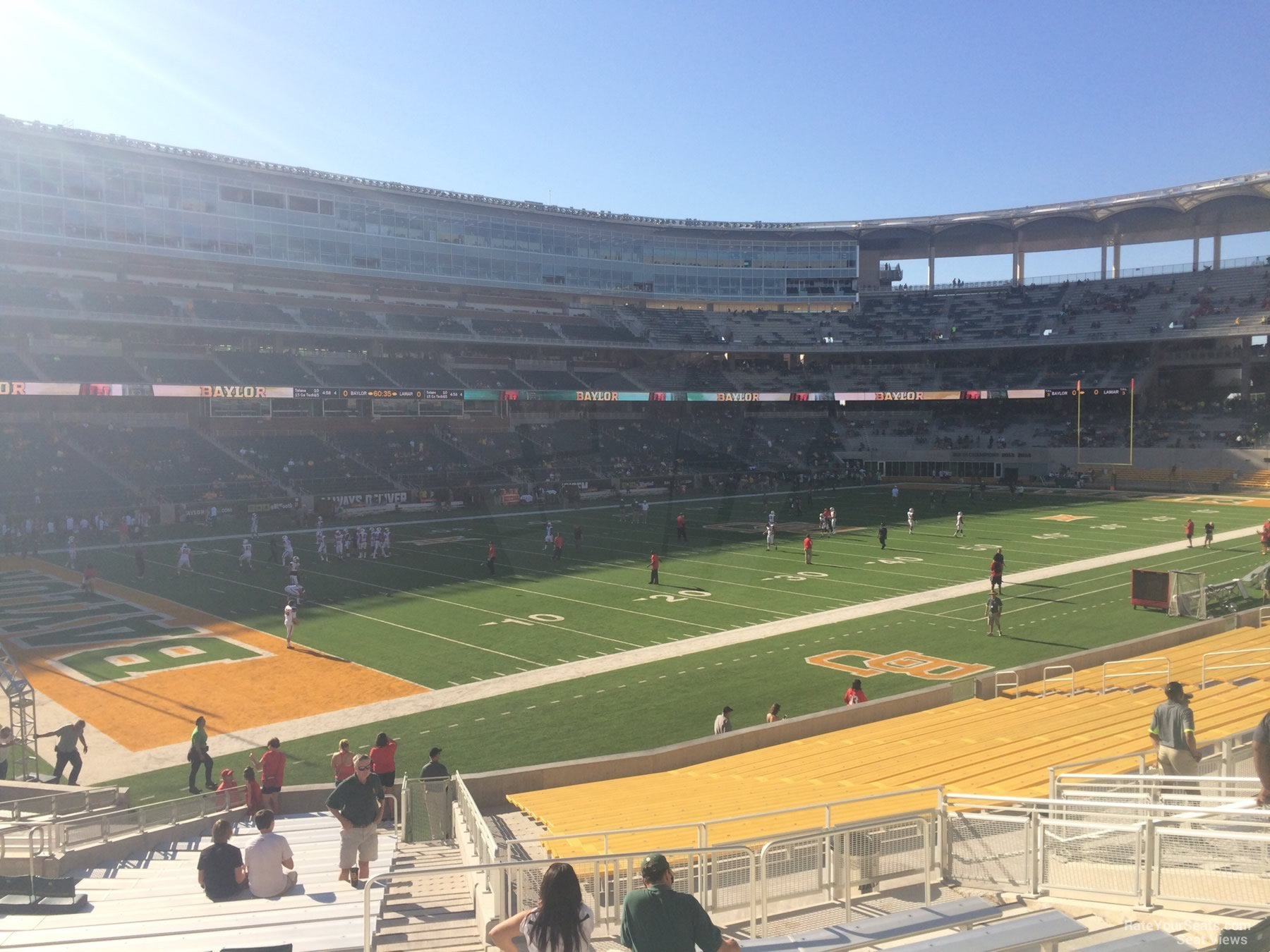 Seat View for McLane Stadium Section 130, Row 25