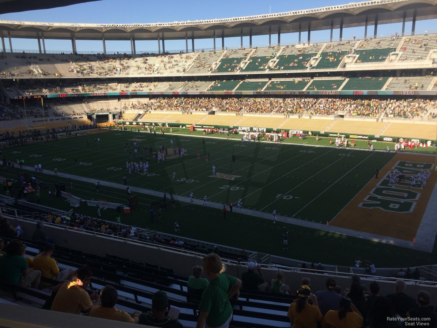 Seat View for McLane Stadium Section 202, Row 12