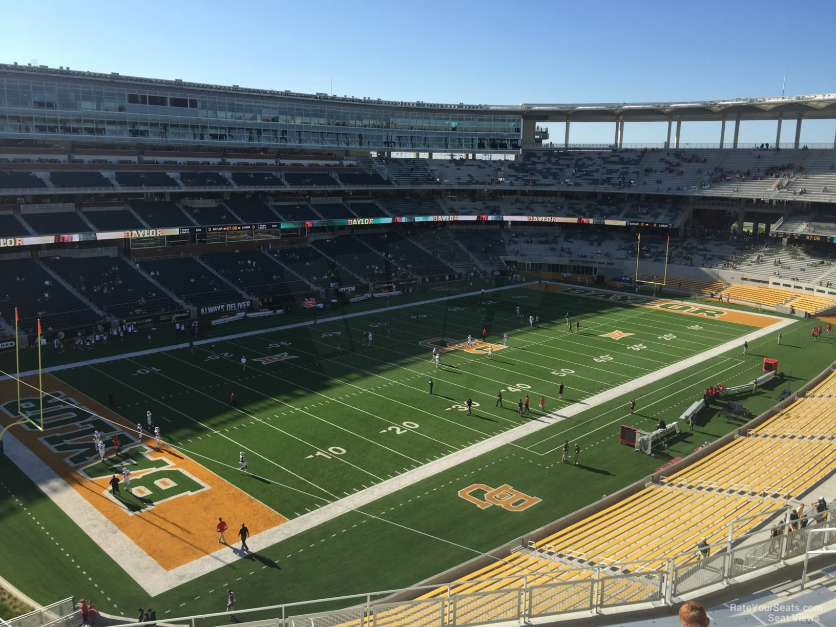 Seat View for McLane Stadium Section 329, Row 10