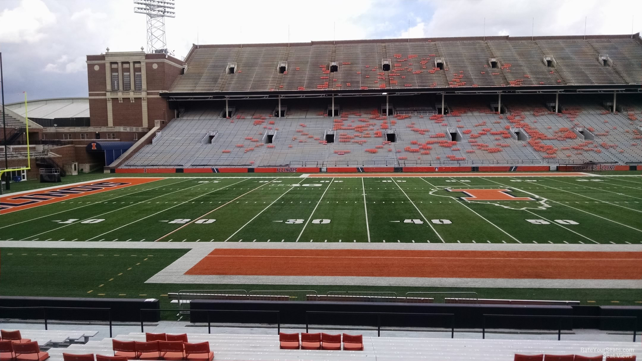Seat View for Memorial Stadium - IL Section 128, Row 25