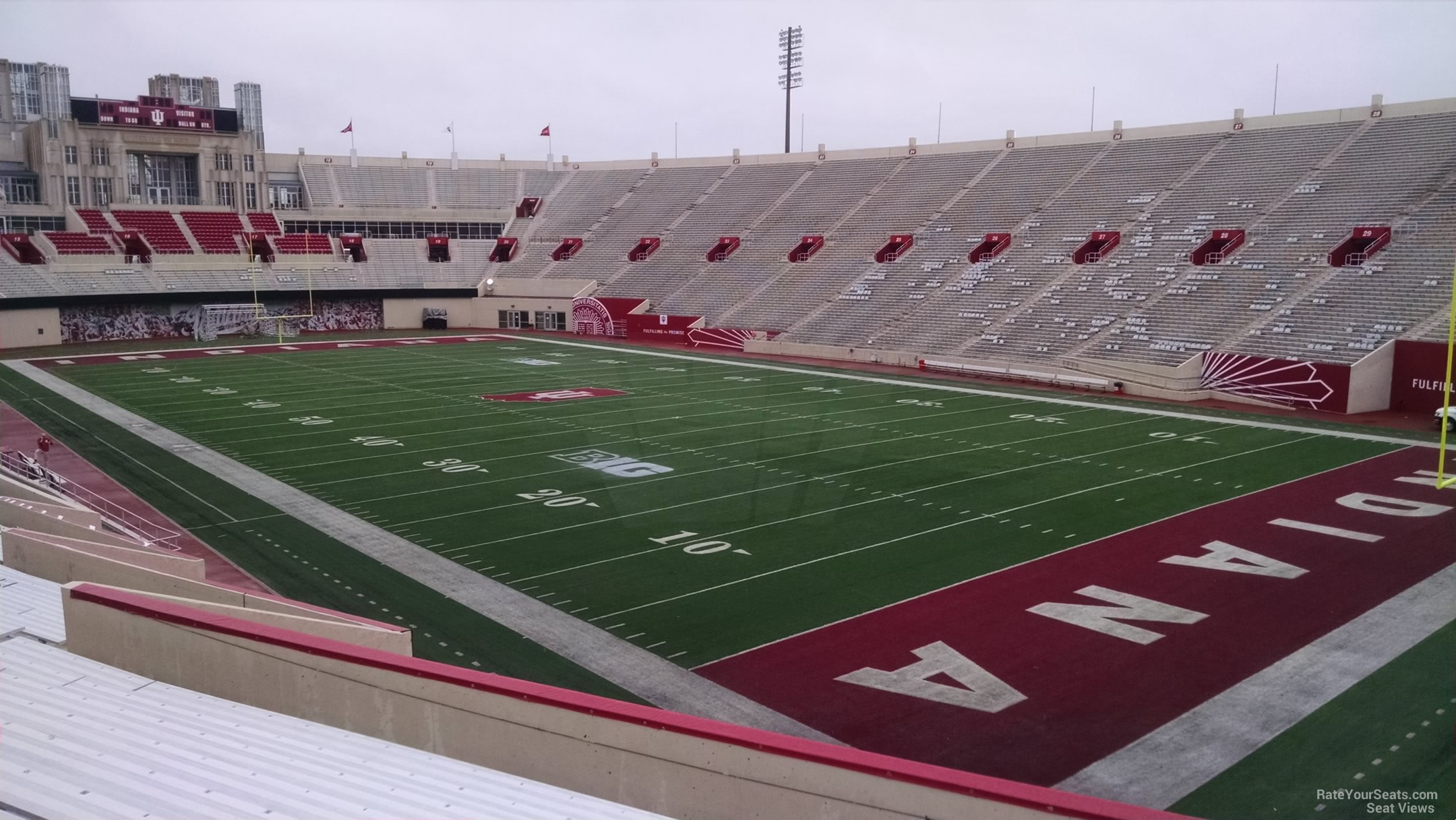 Seat View for Memorial Stadium - IN Section 1, Row 30