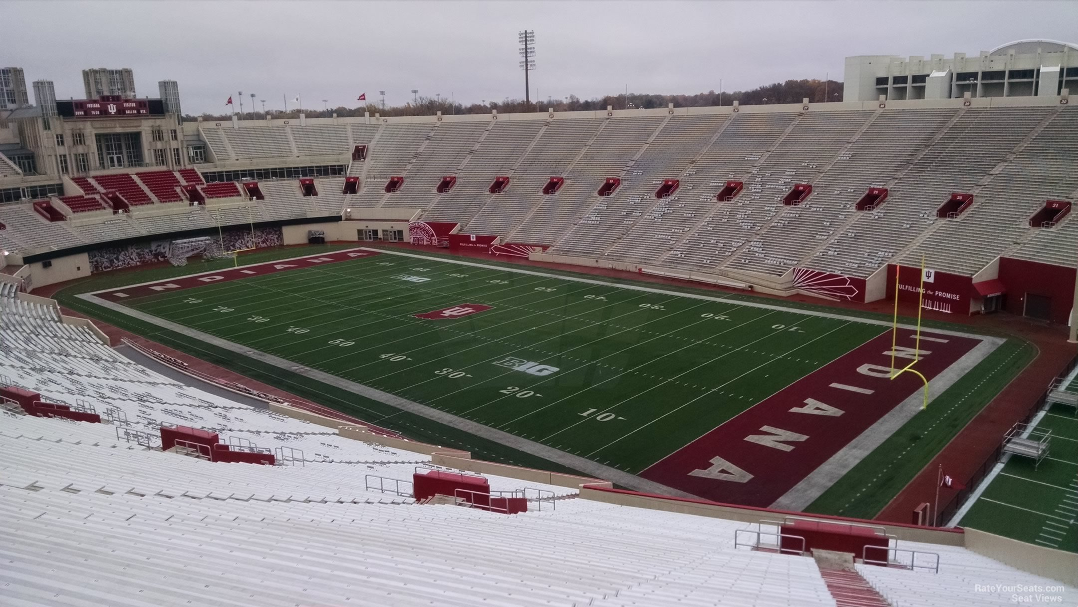 Seat View for Memorial Stadium - IN Section 101, Row 13