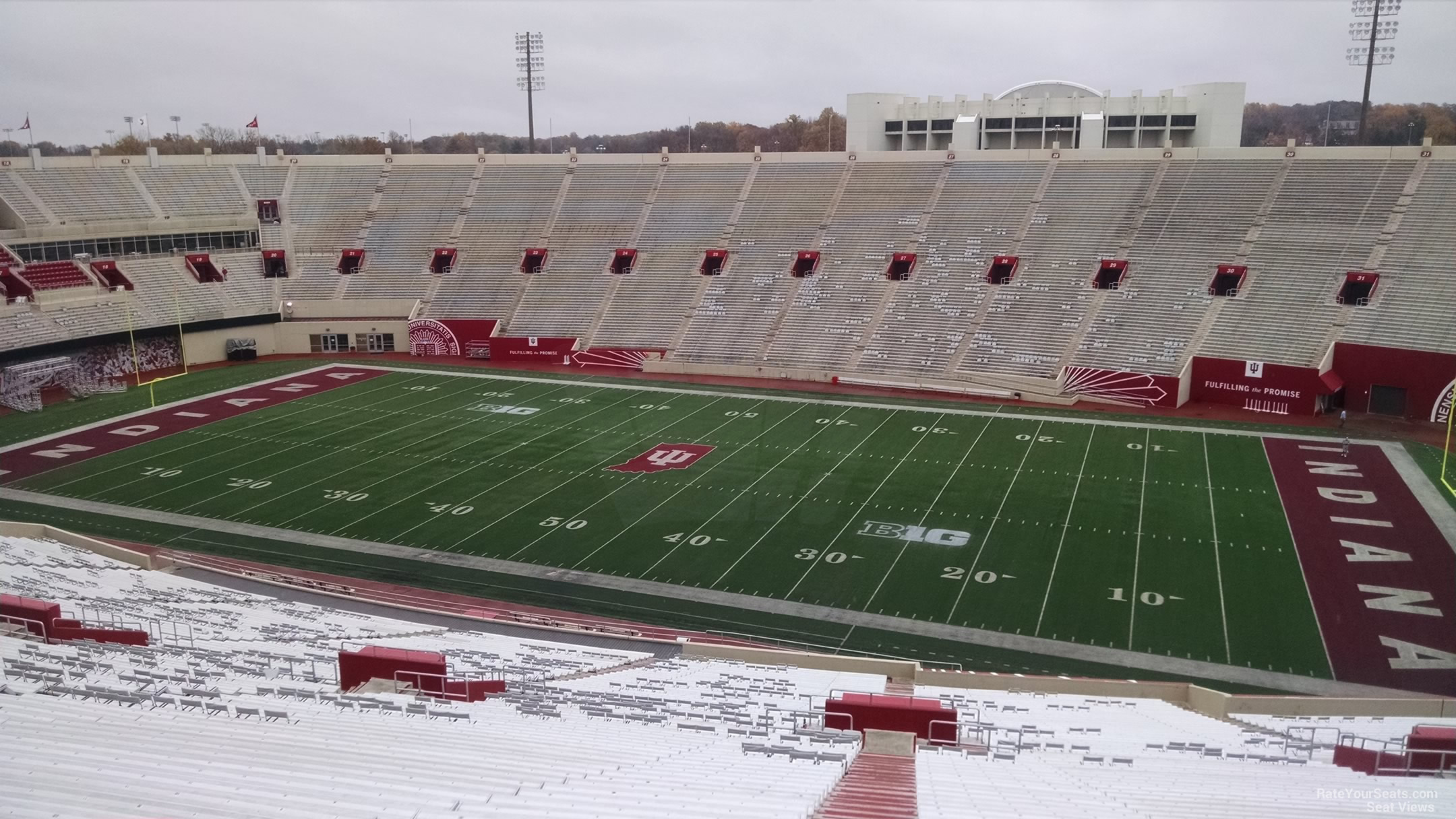 Seat View for Memorial Stadium - IN Section 104, Row 13