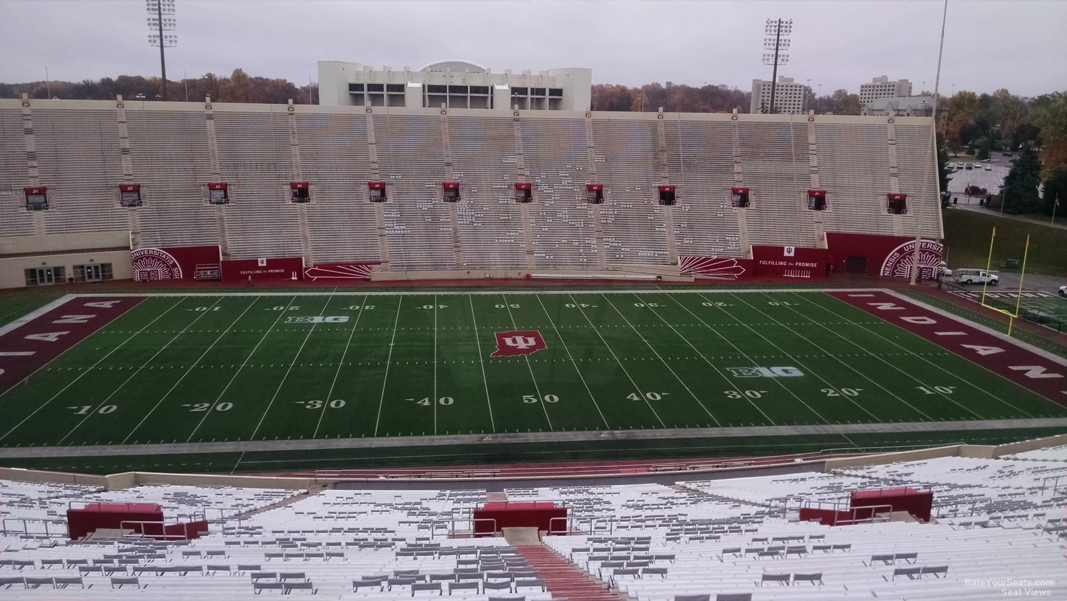 Seat View for Memorial Stadium - IN Section 107, Row 13