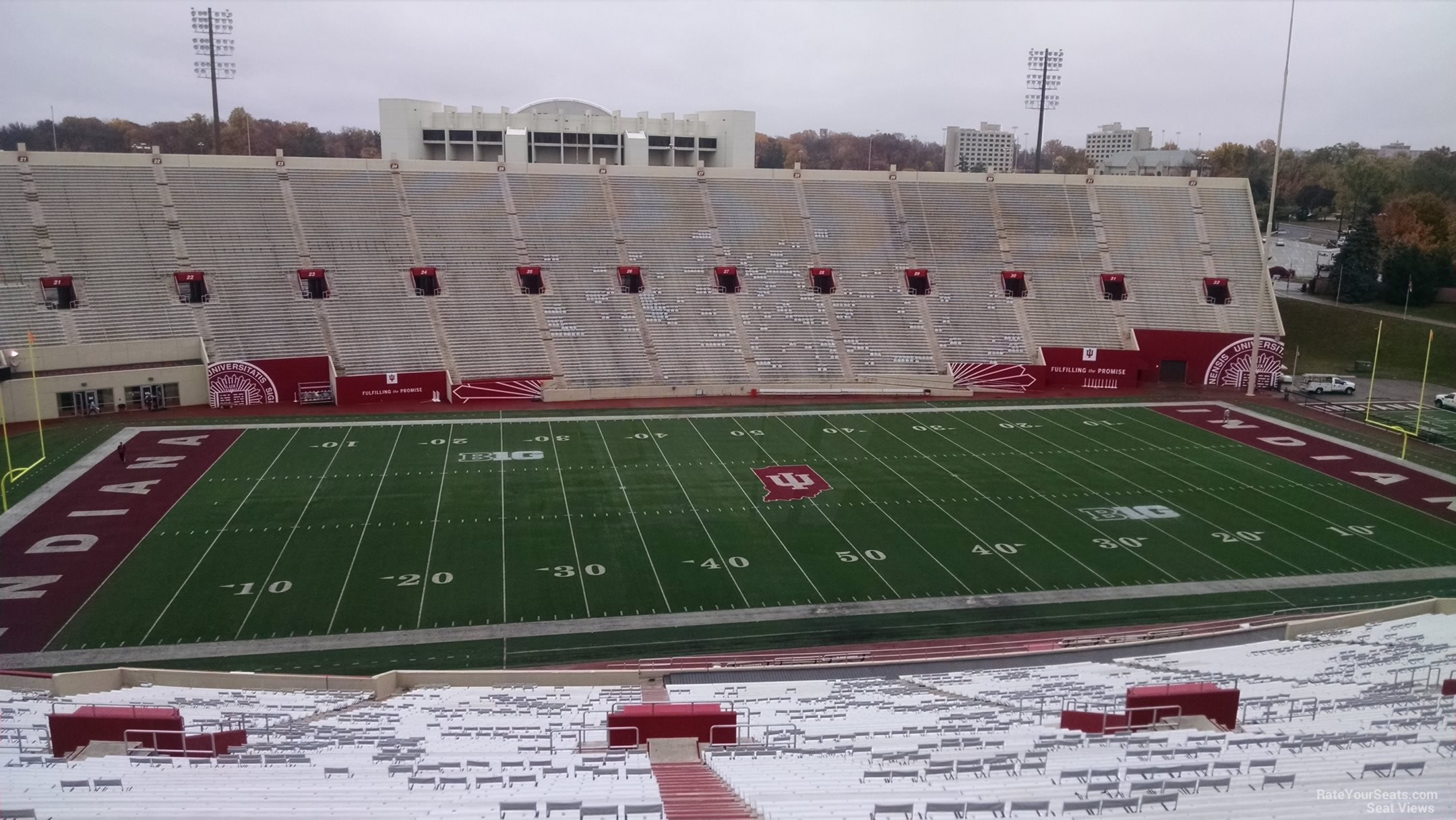Seat View for Memorial Stadium - IN Section 108, Row 13