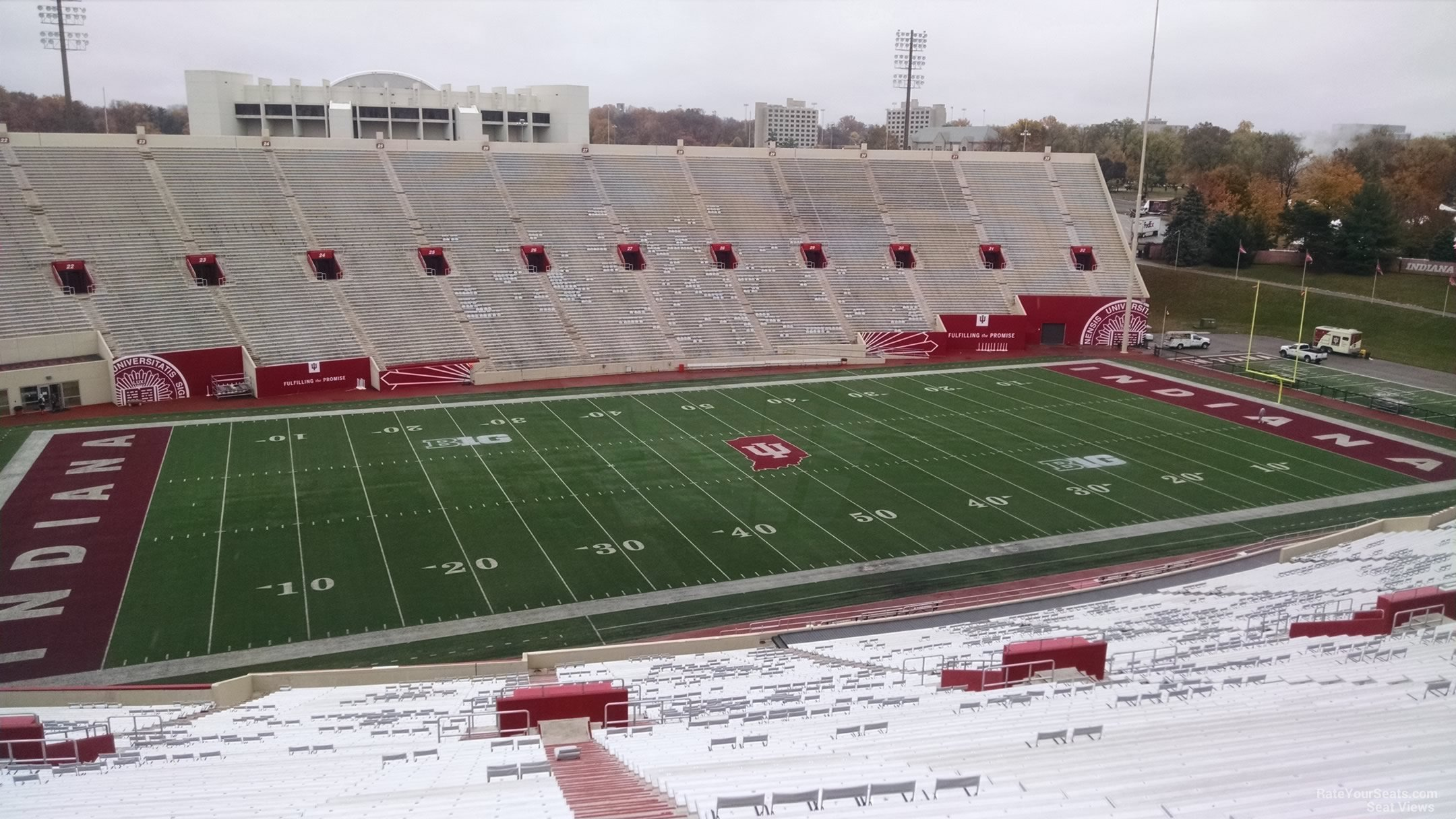 Seat View for Memorial Stadium - IN Section 109, Row 13
